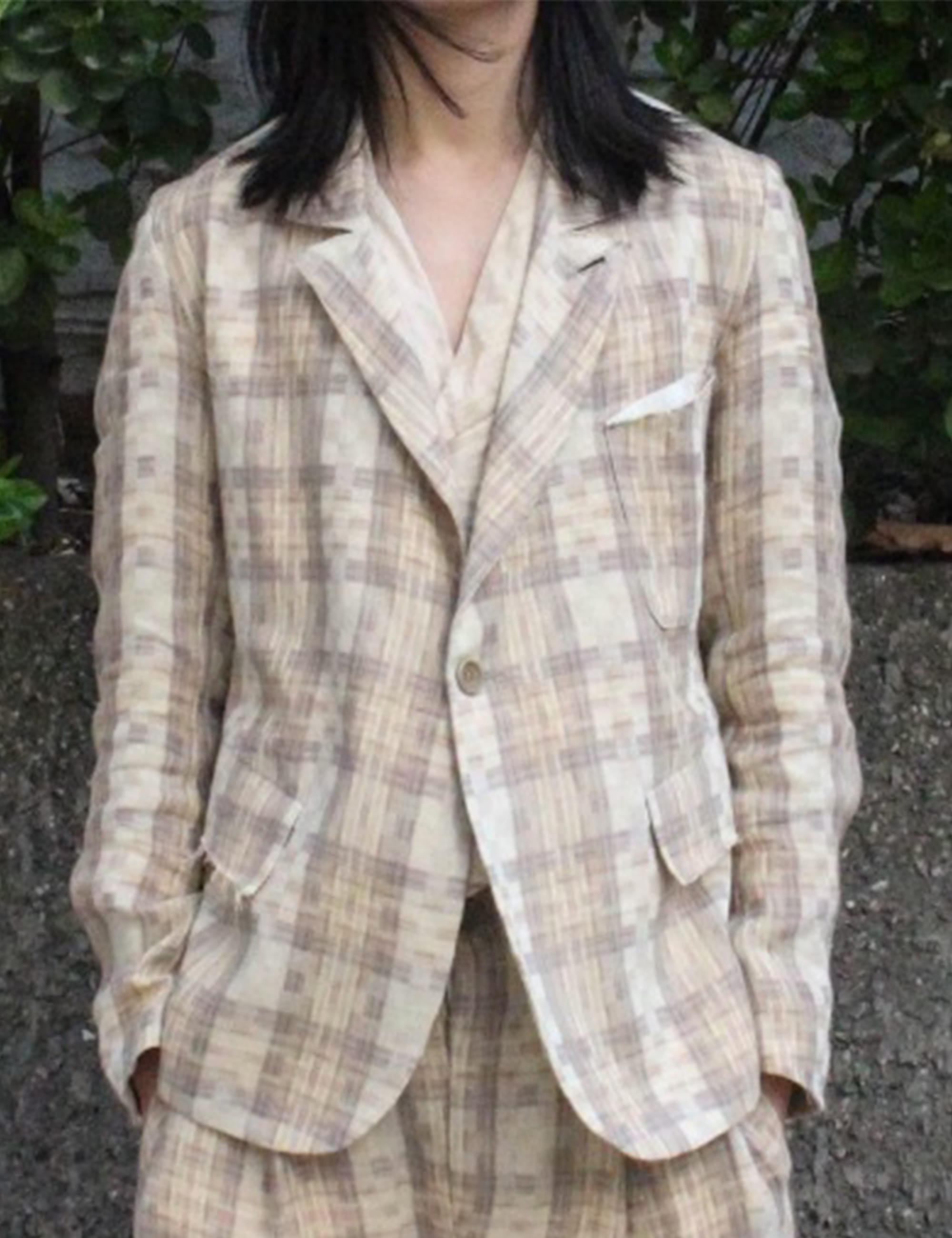 [EXCLUSIVE] BLAZER_CHECK LINEN