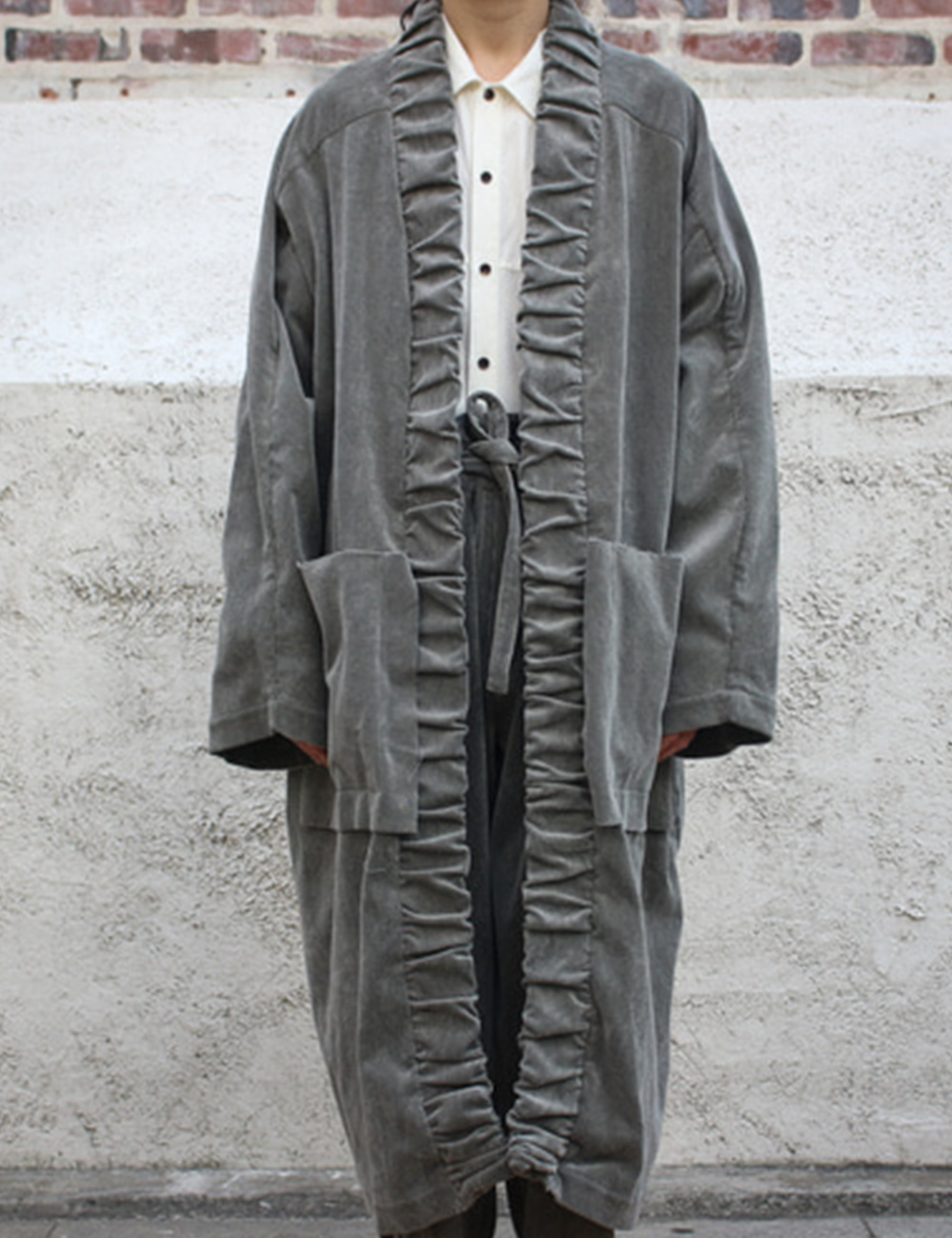 WASHING CORDUROY COAT_GREY
