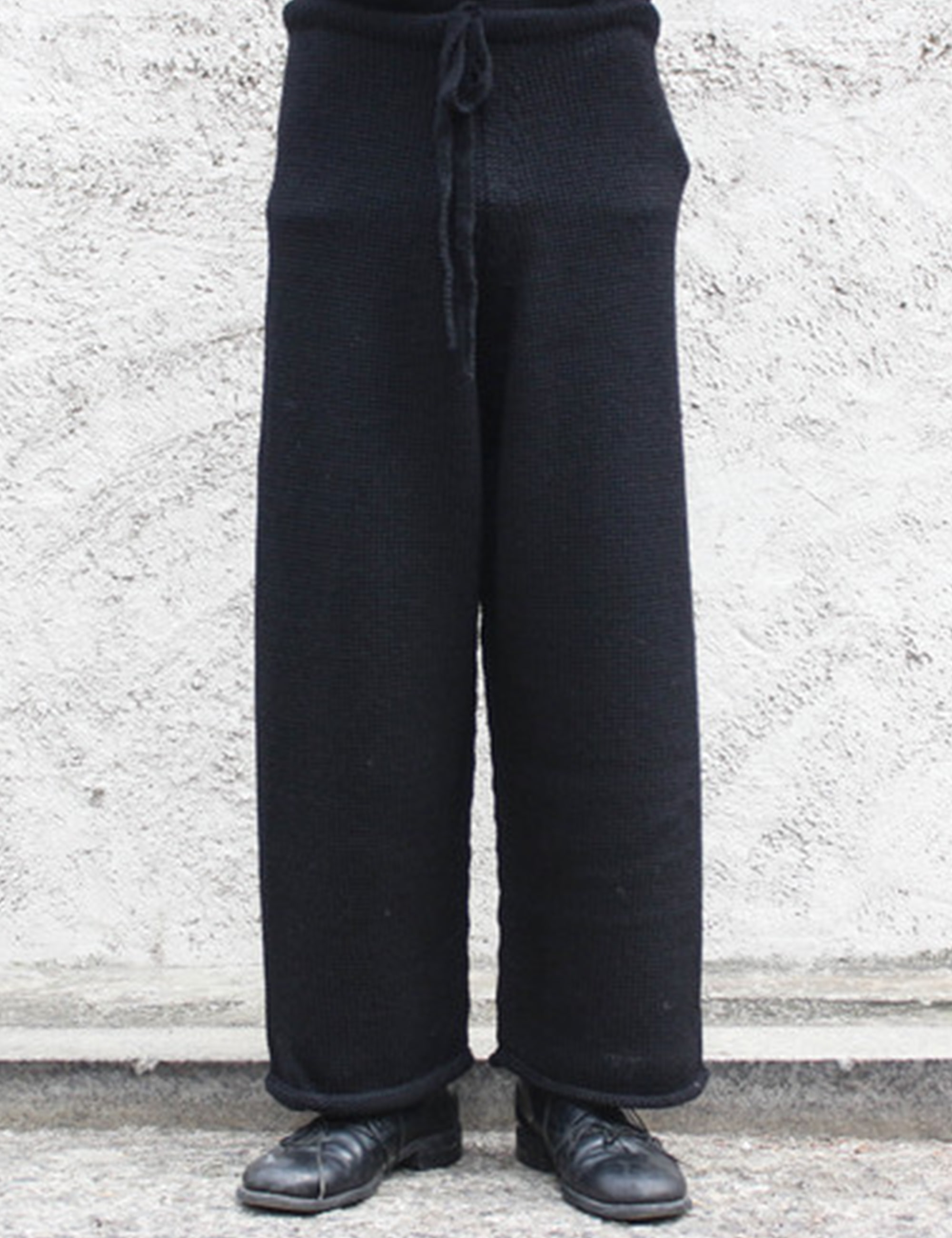 [EXCLUSIVE] KNITTED PANTS_BLACK