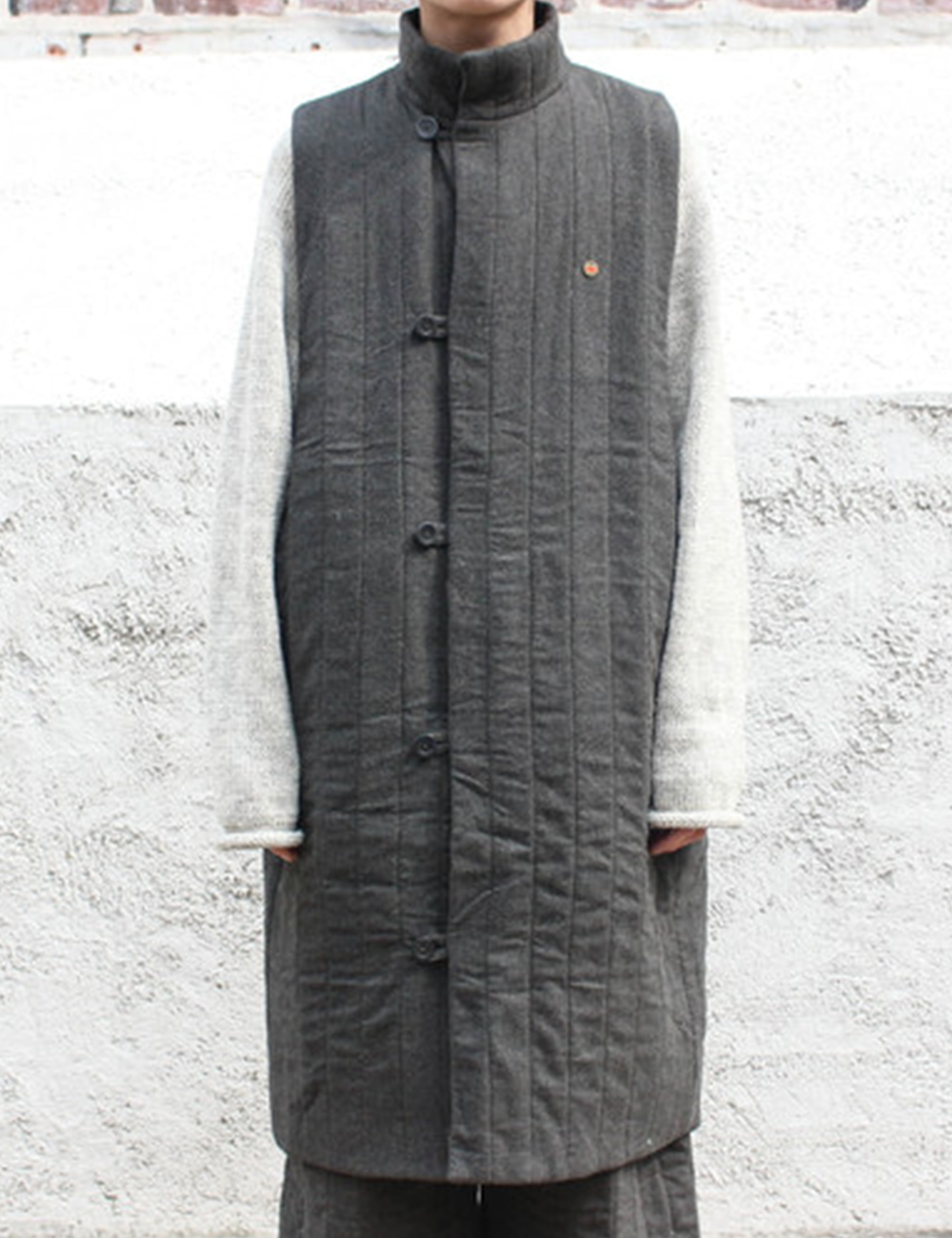 [EXCLUSIVE] QUILTED WAISTCOAT_CHARCOAL