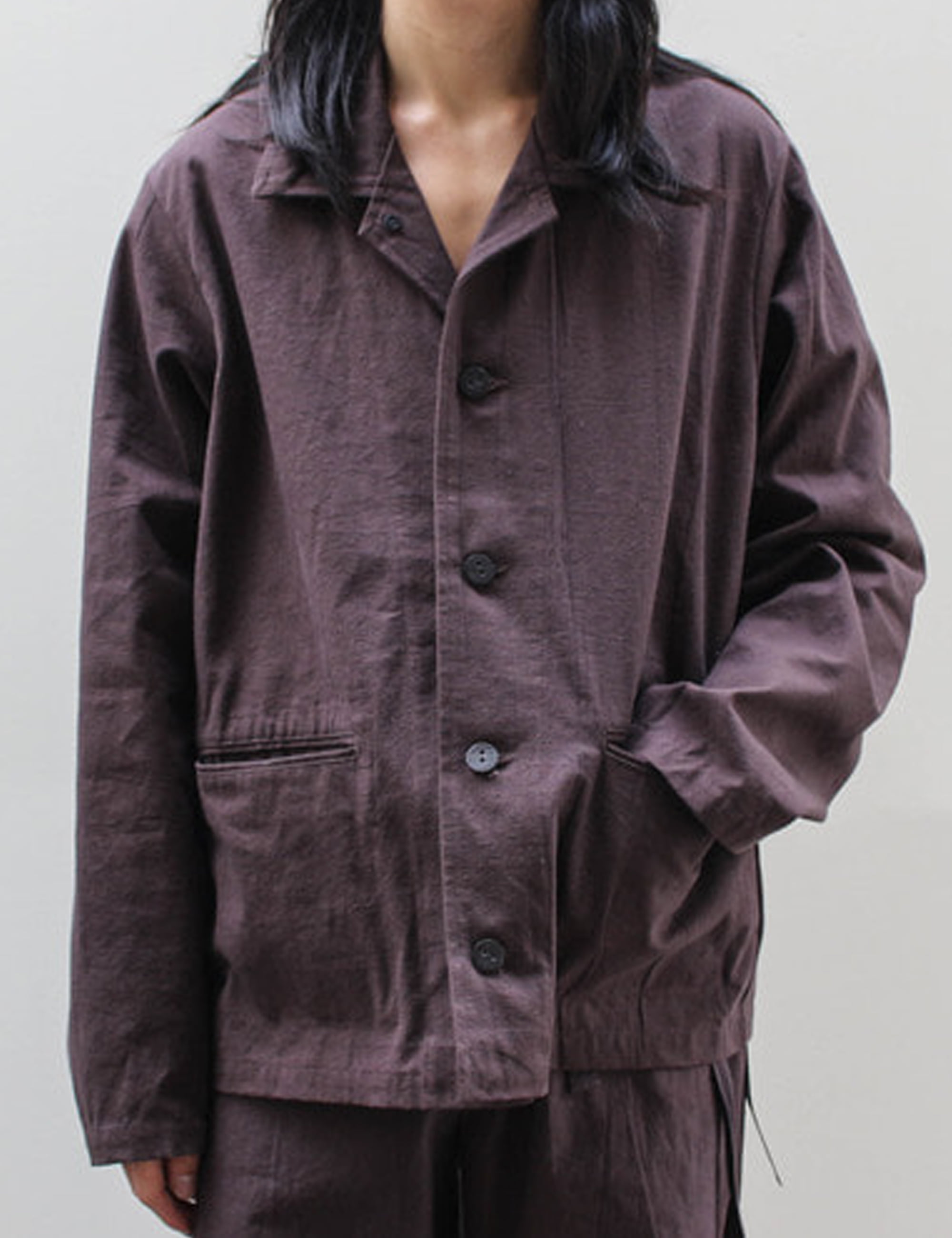 CANVAS JACKET_BROWN