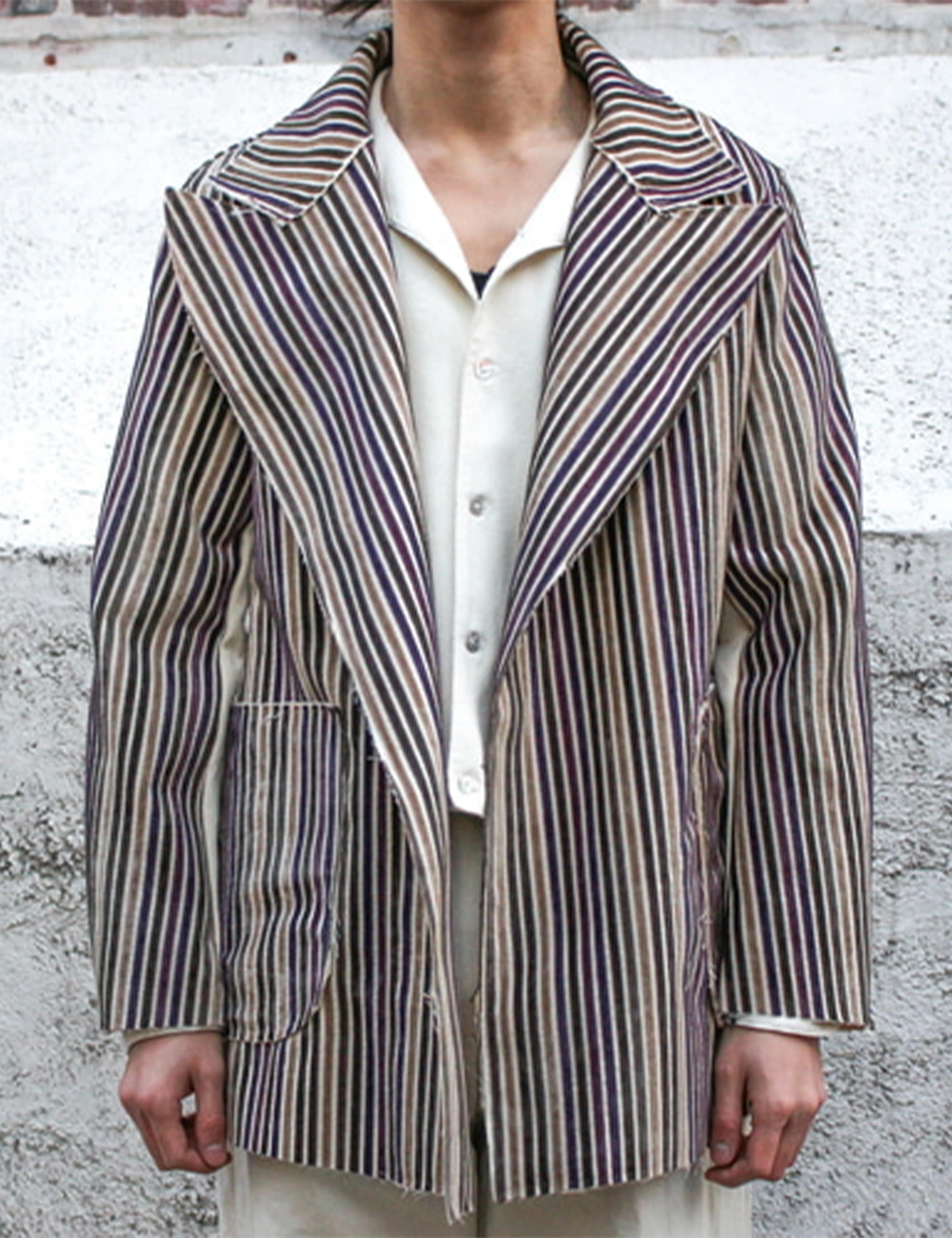 [EXCLUSIVE] BLAZER_PURPLE STRIPE