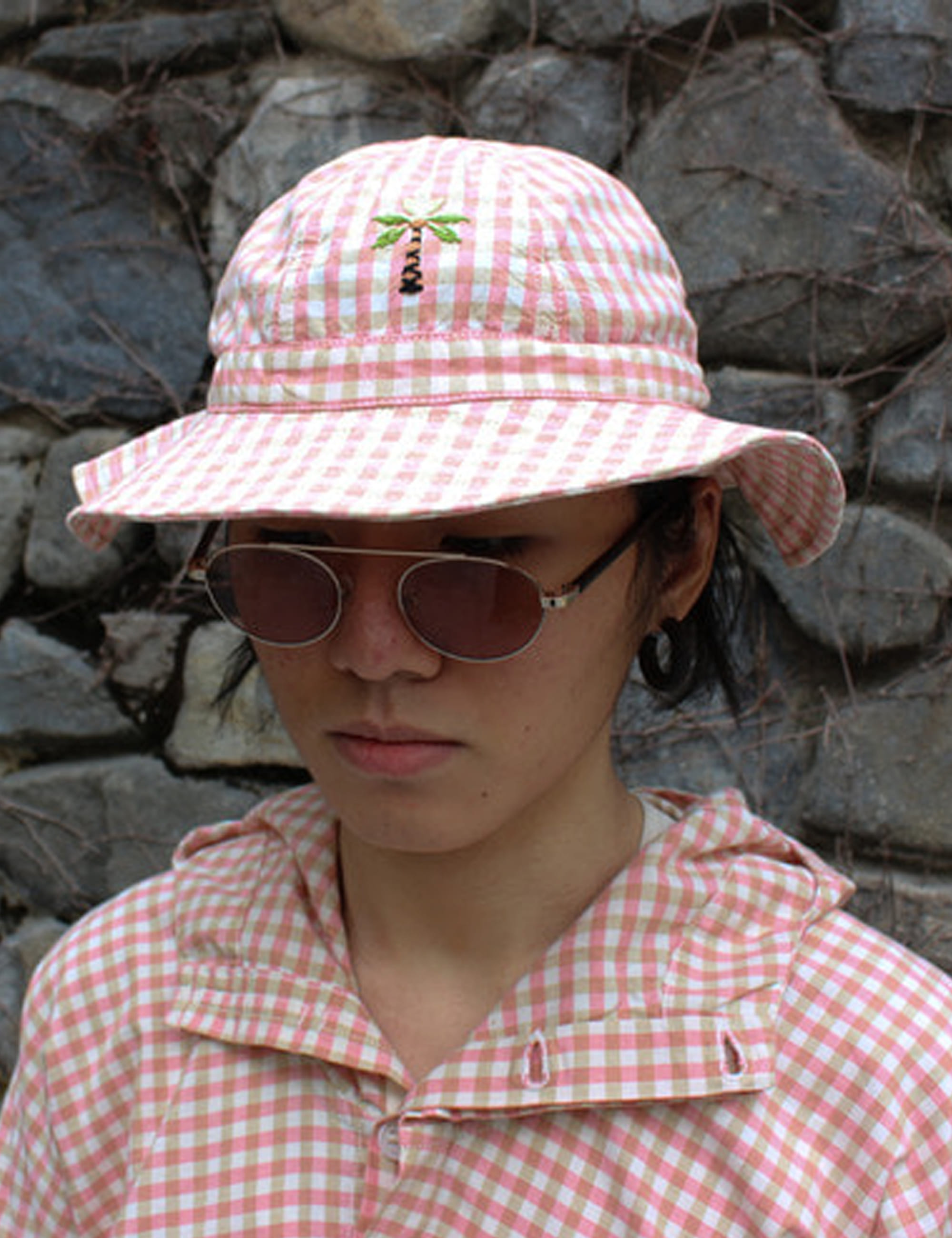 LAZY DAE HAT_APPLE JAM GINGHAM