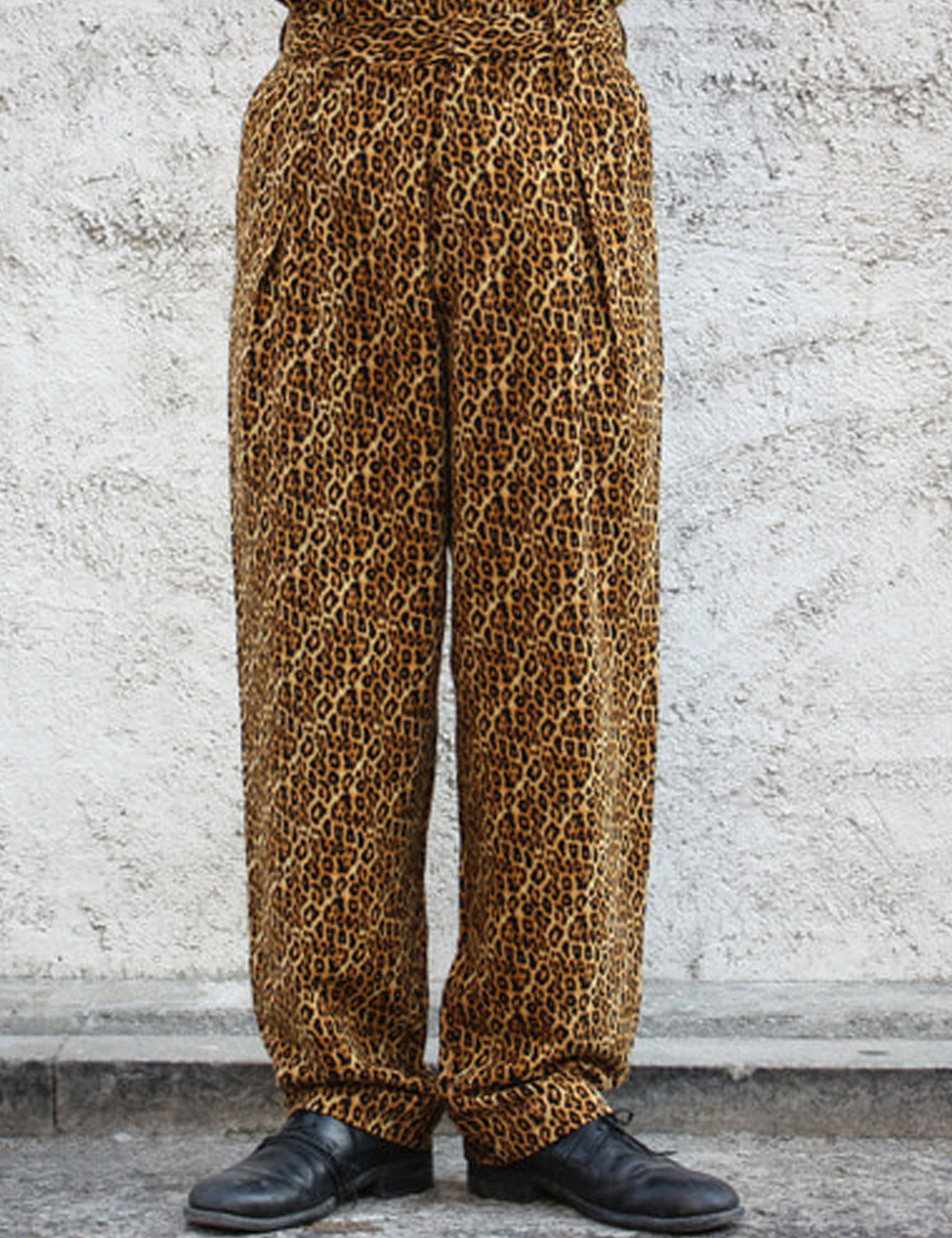 2TUCK WIDE TROUSER_LEOPARD
