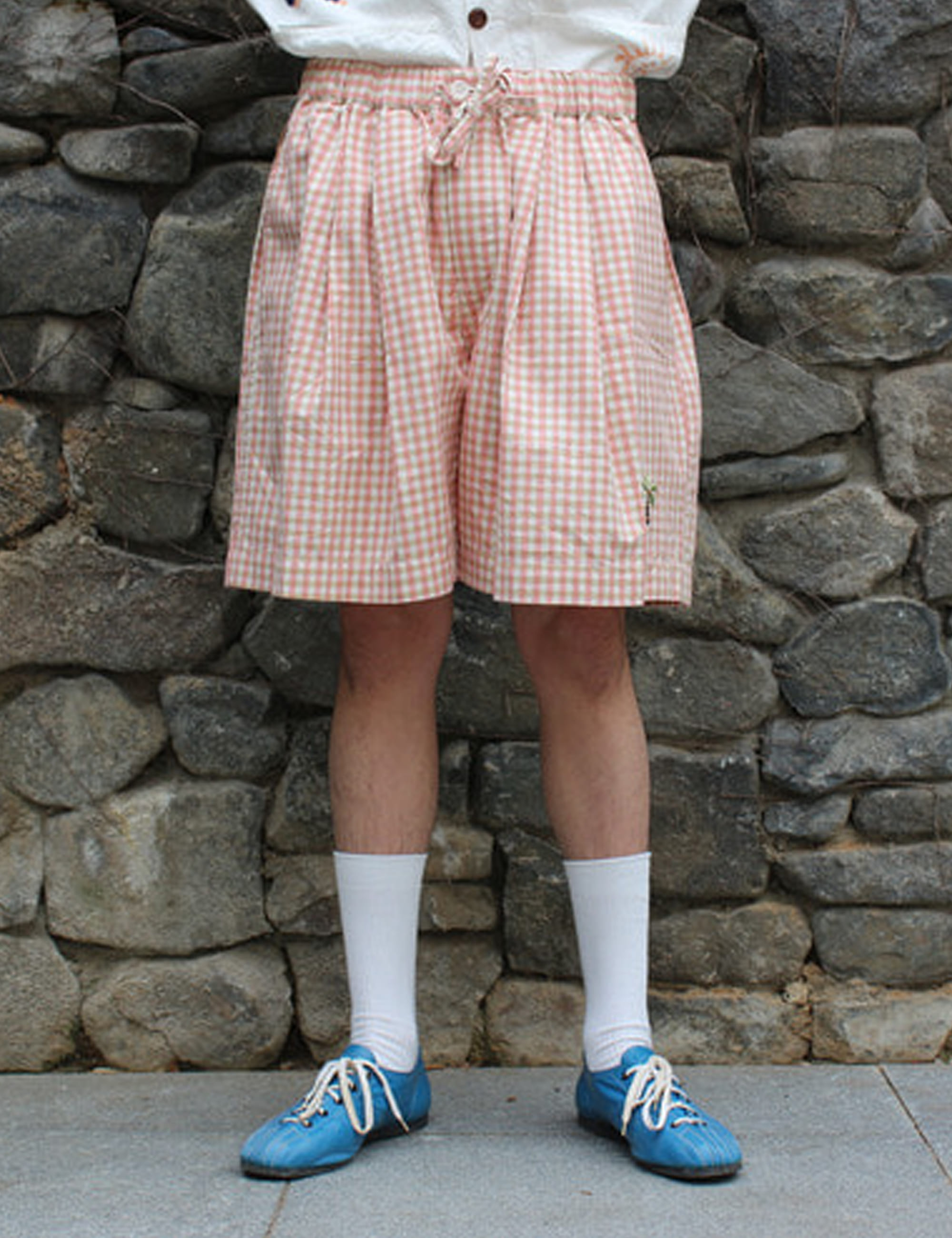 BRIDGE SHORTS_APPLE JAM GINGHAM
