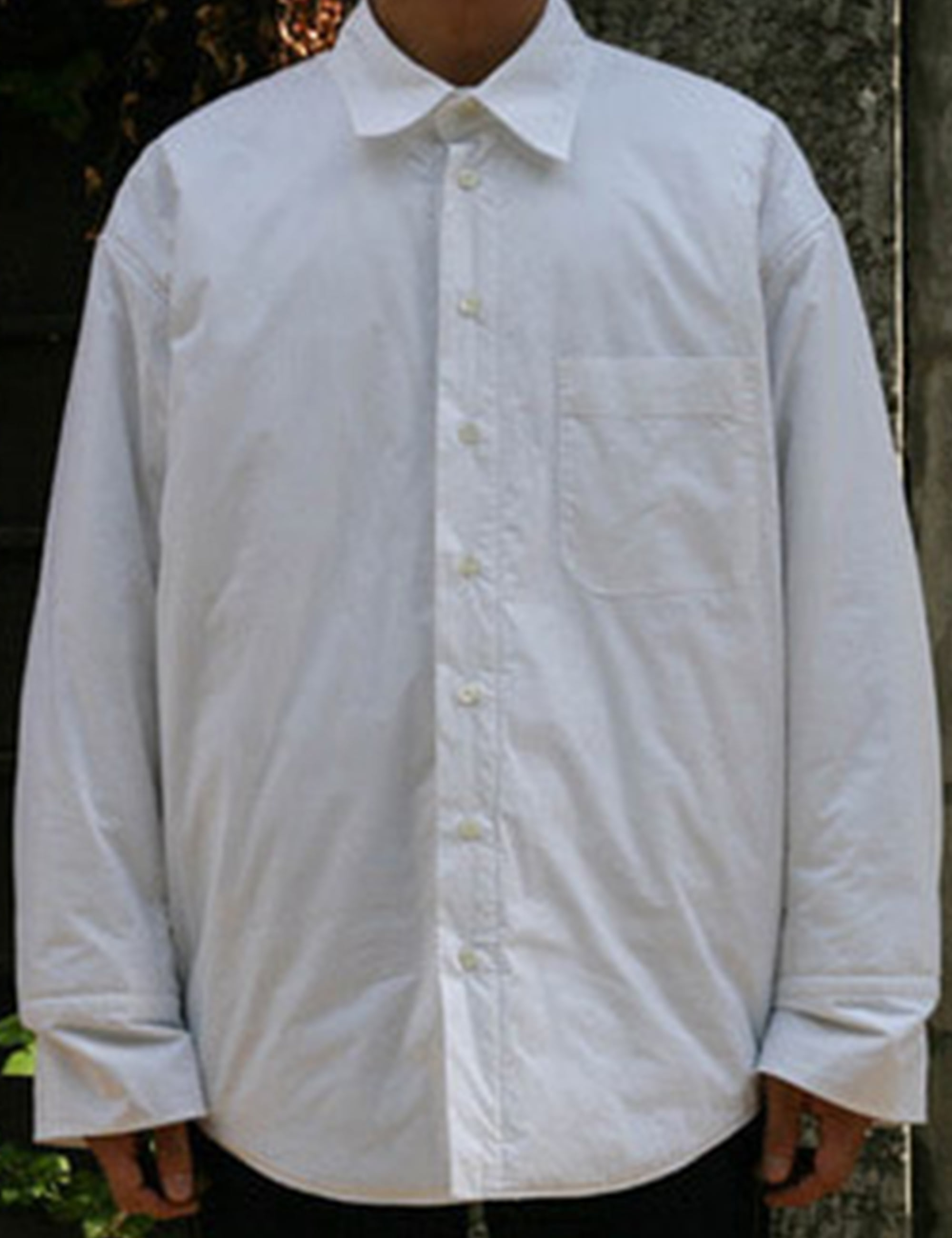 HUGE PROM PADDED SHIRT_WHITE