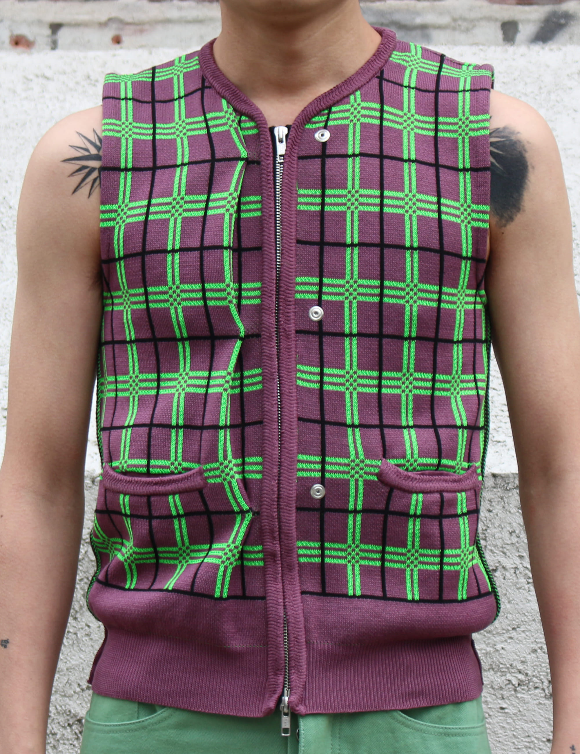 RAVER'S KNITTED VEST_PURPLE
