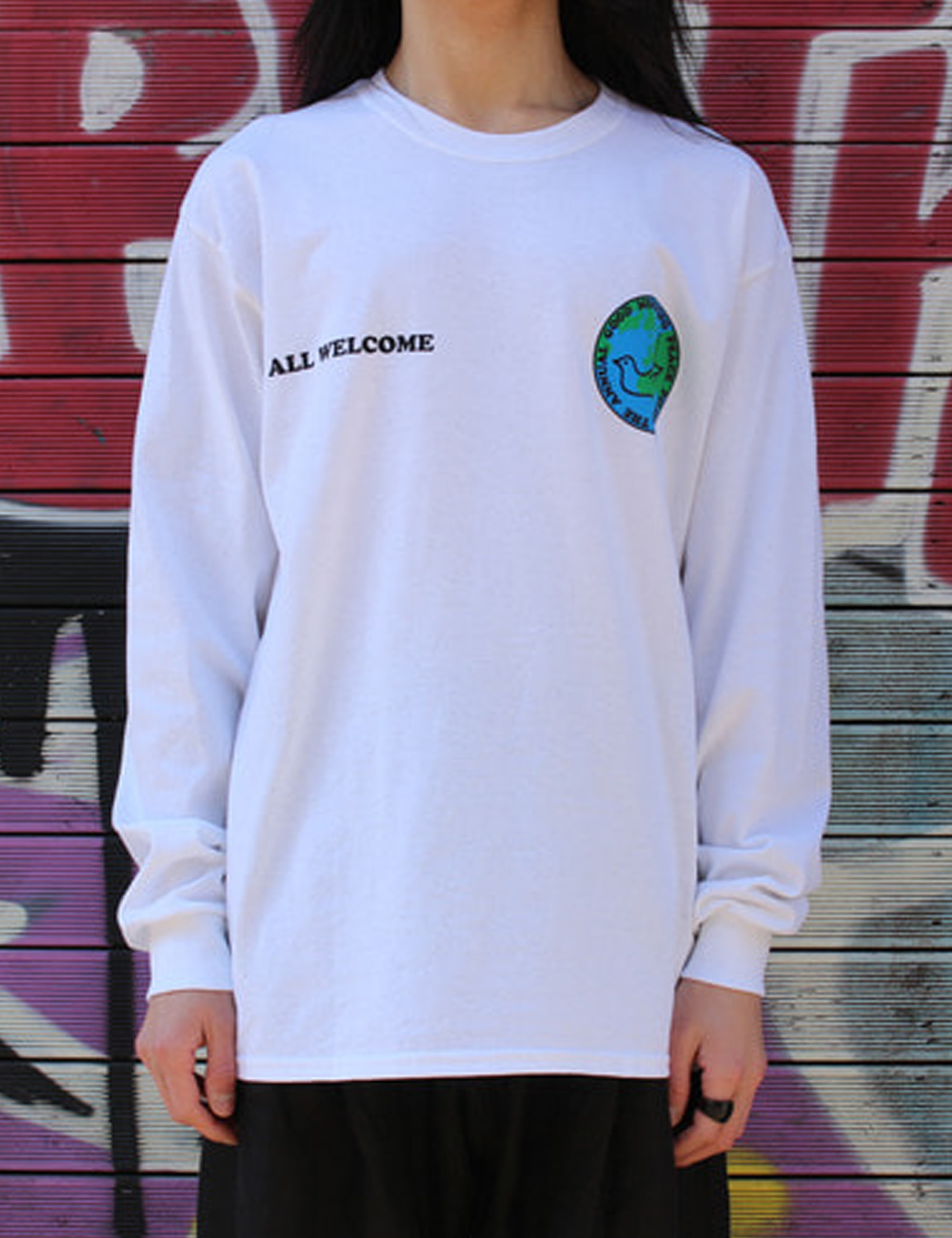 PEACE PILGRIMAGE LS TEE_WHITE