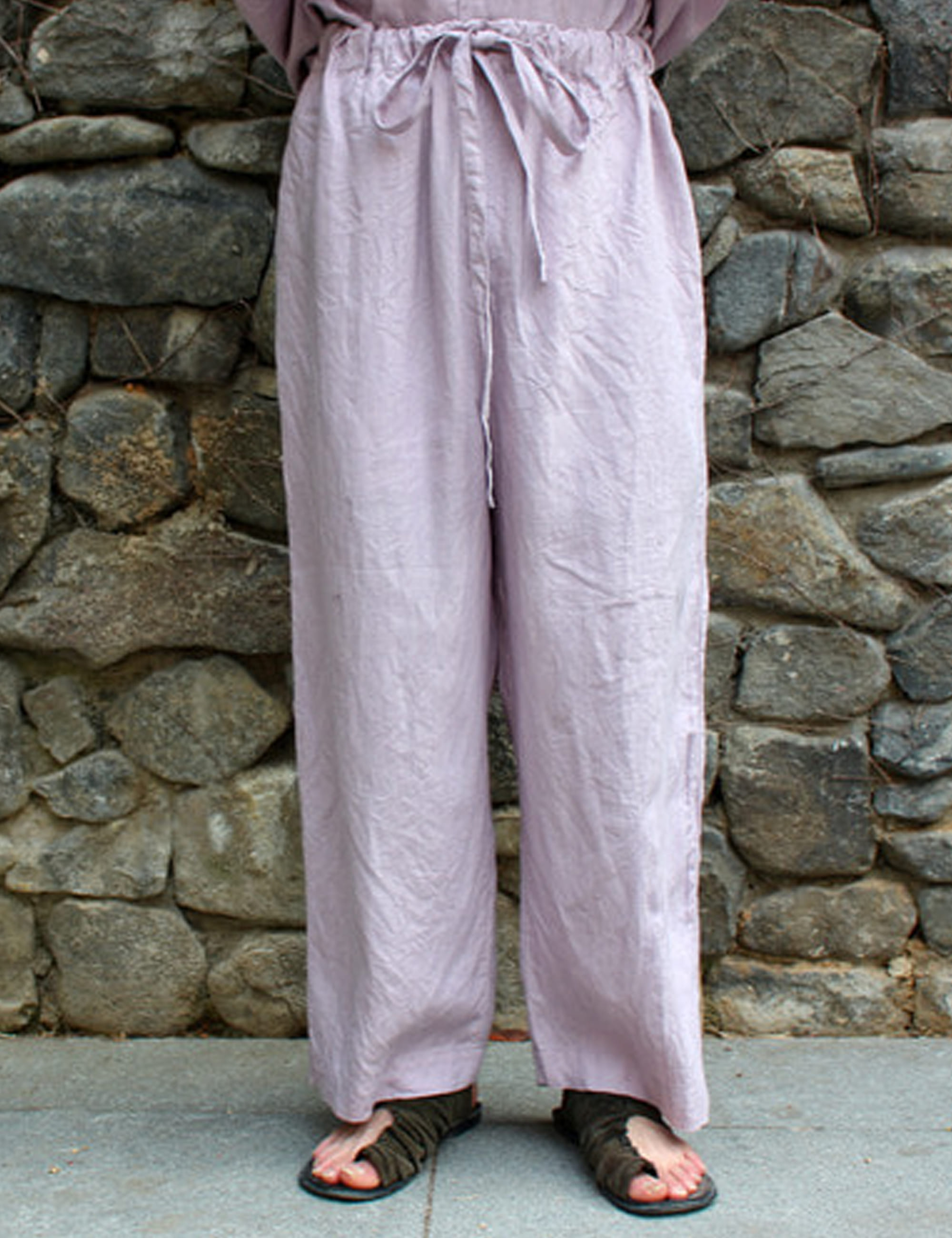 WIDE LOOSE PANTS_MAUVE