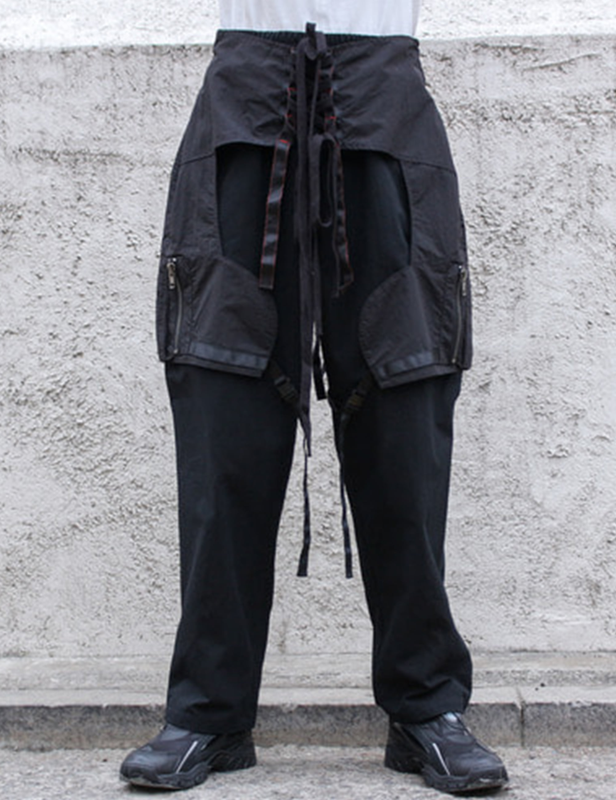CHAPS TROUSERS_BLACK