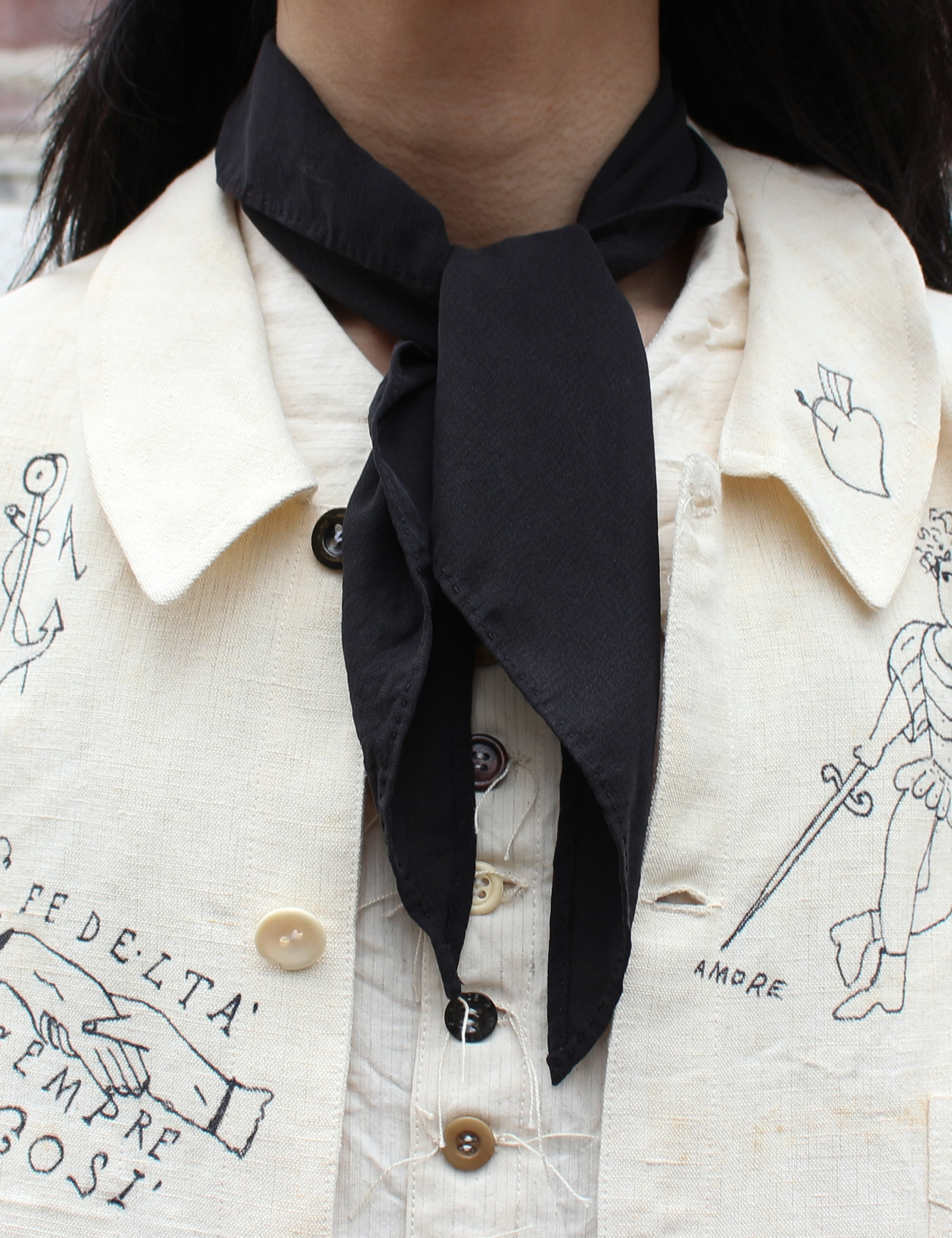 TRIANGLE FOULARD_BLACK