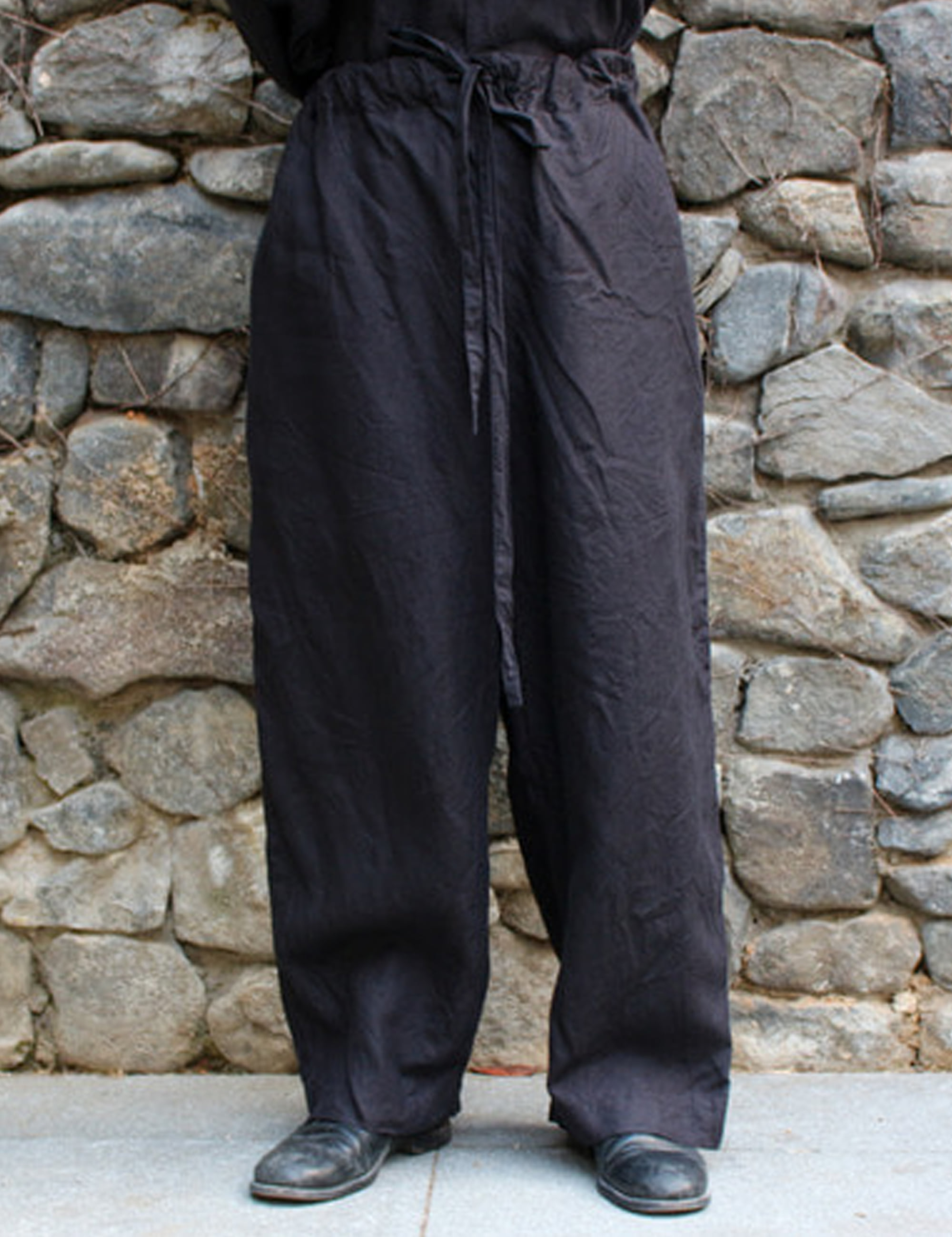 WIDE LOOSE PANTS_BLACK