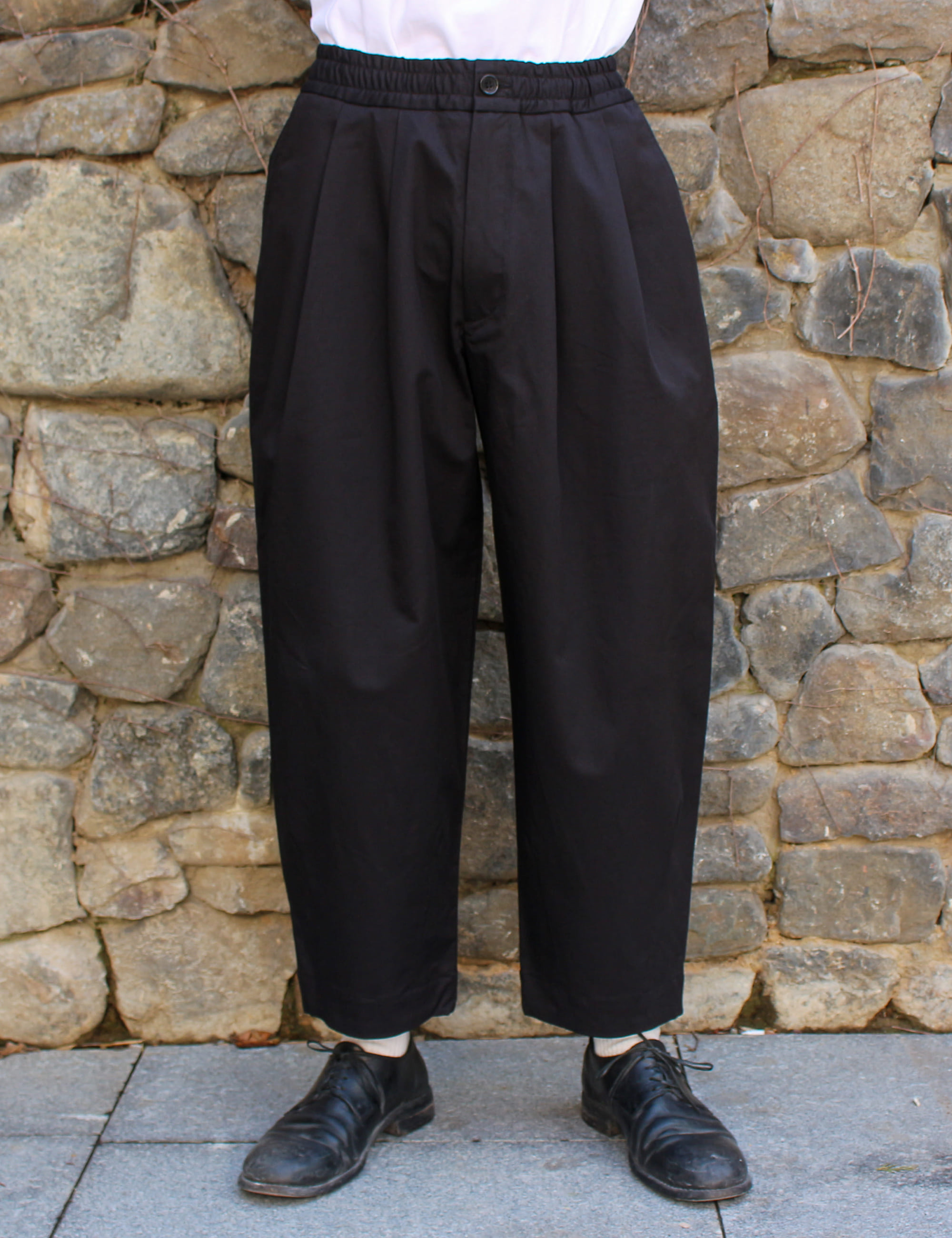 CASE TROUSERS_BLACK