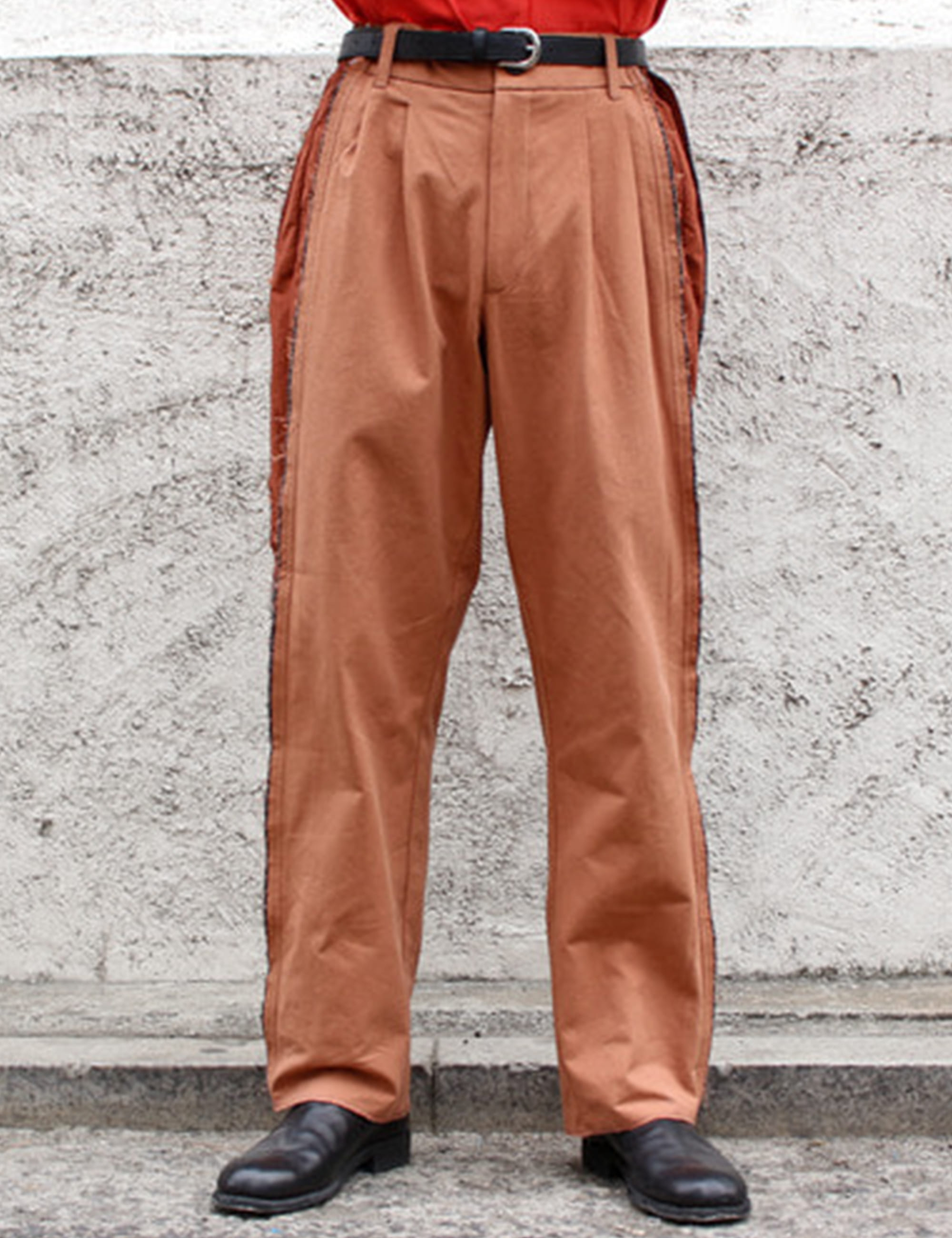 SLICED TAILORED TROUSERS_SIENNA