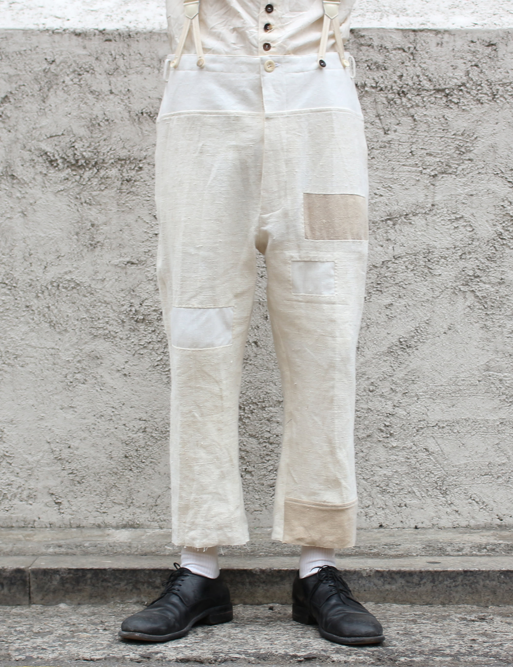 ANTIQUE LINEN PANTS_WHITE