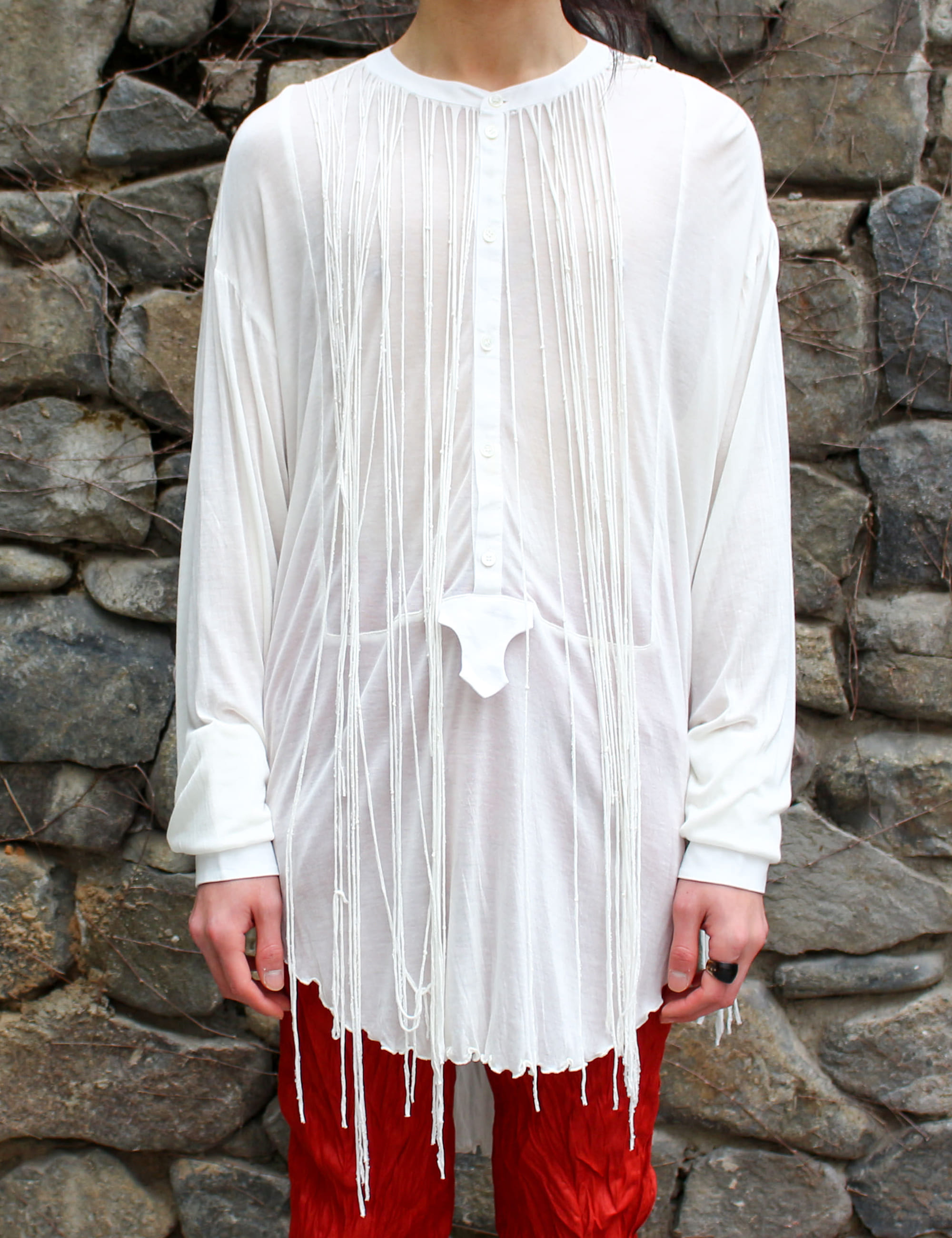 FRINGE CUT-SEW_OFF WHITE