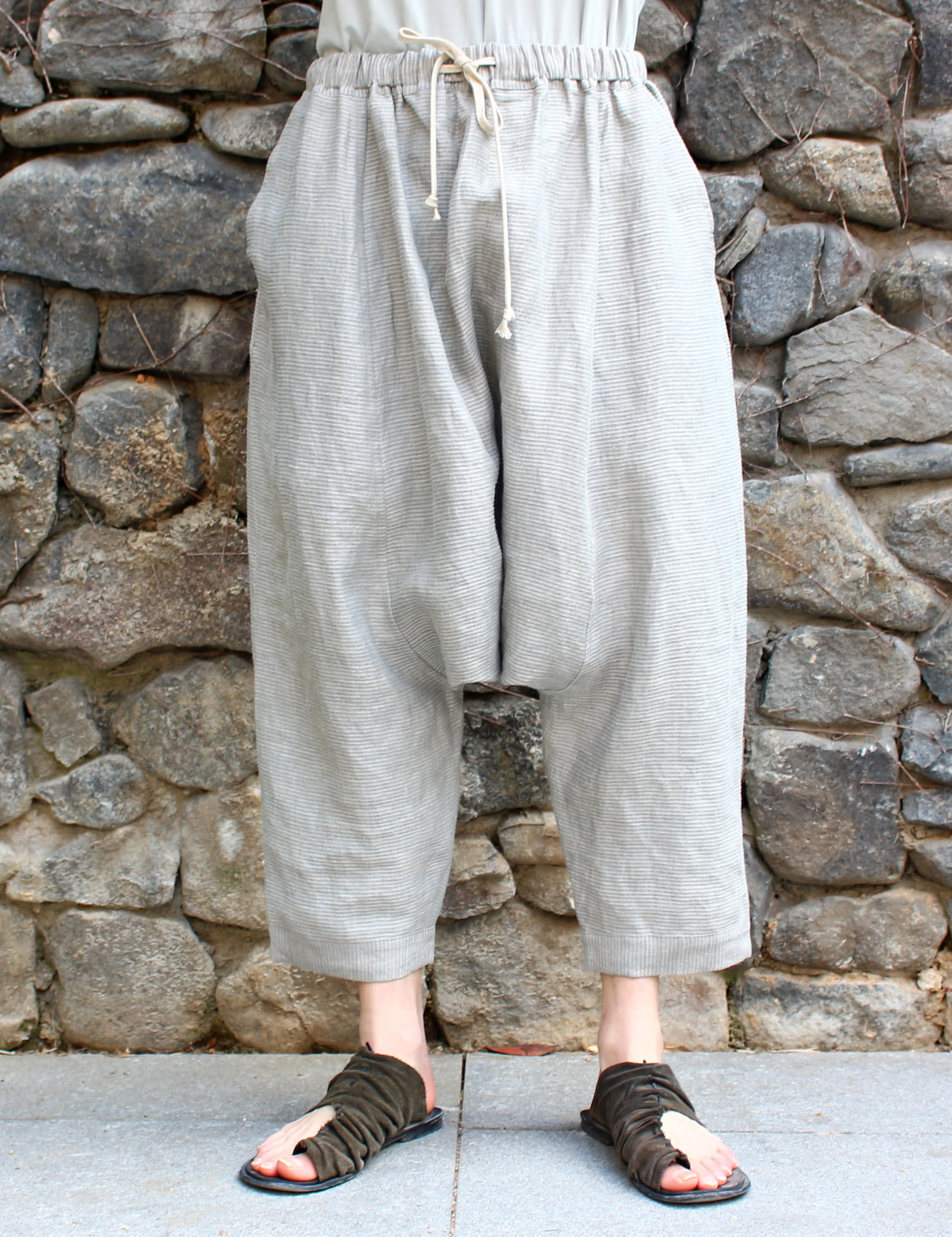 BALLOON PLAIN TROUSERS_LIGHT
