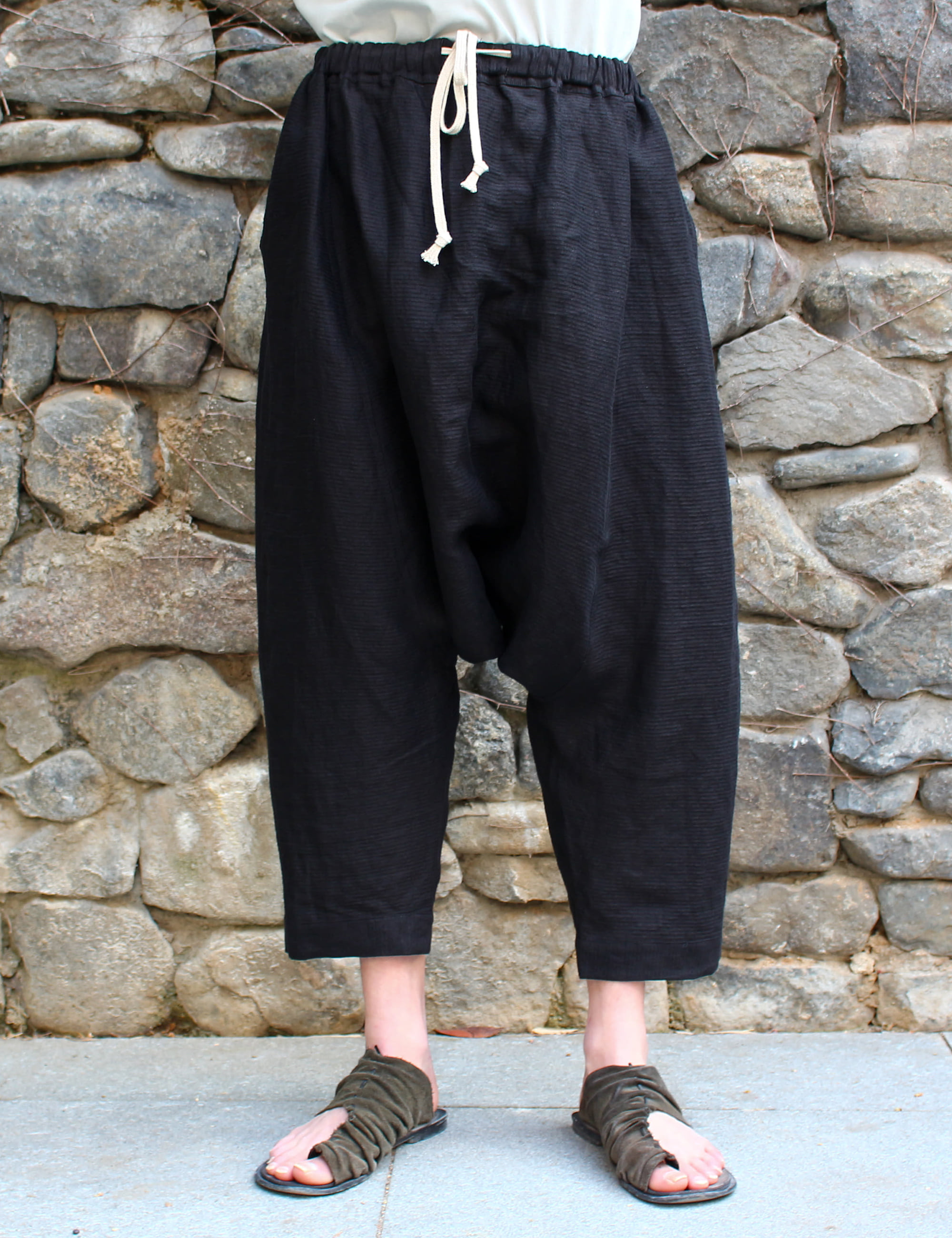 BALLOON PLAIN TROUSERS_DARK