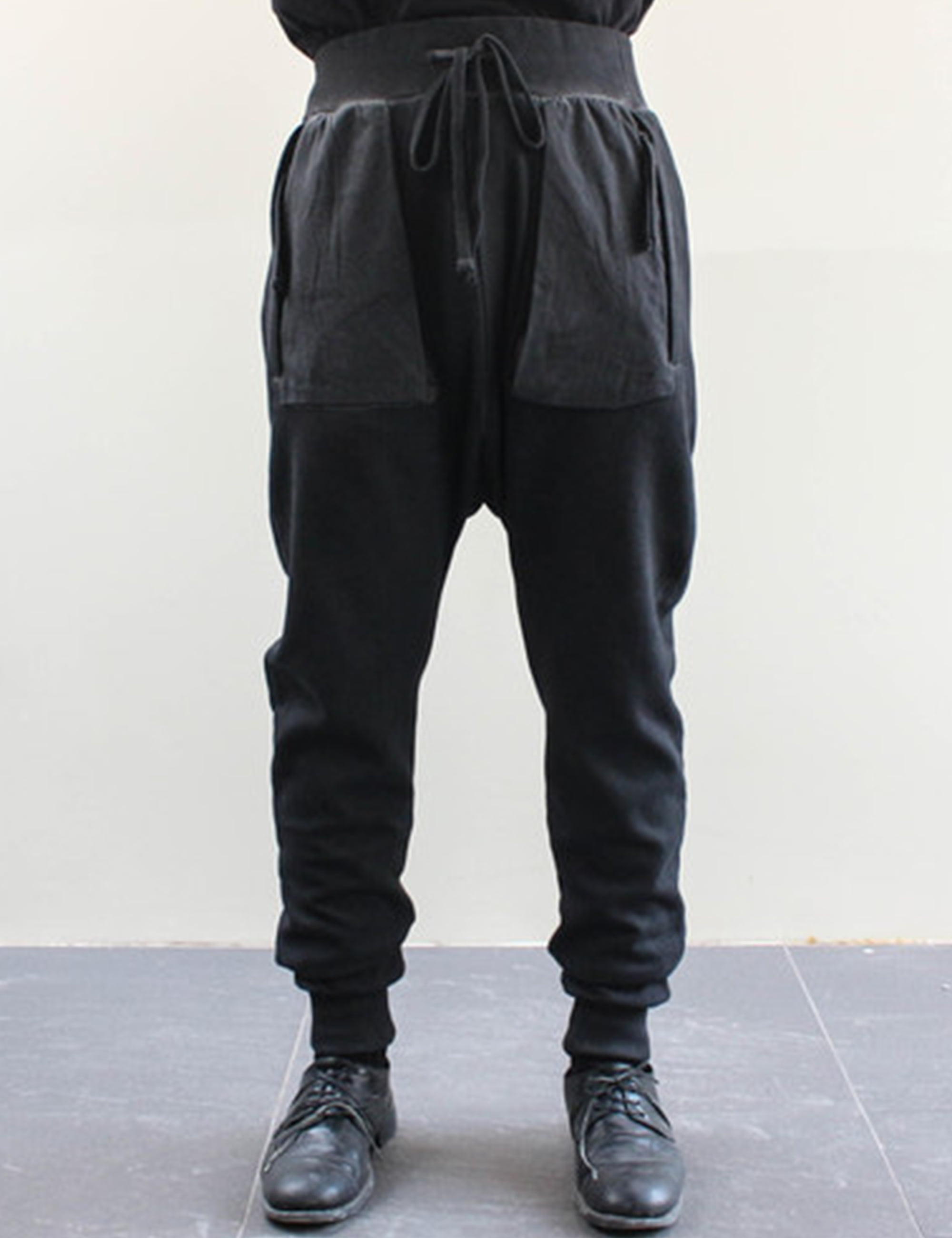 SWEAT PANTS_BLACK OIL