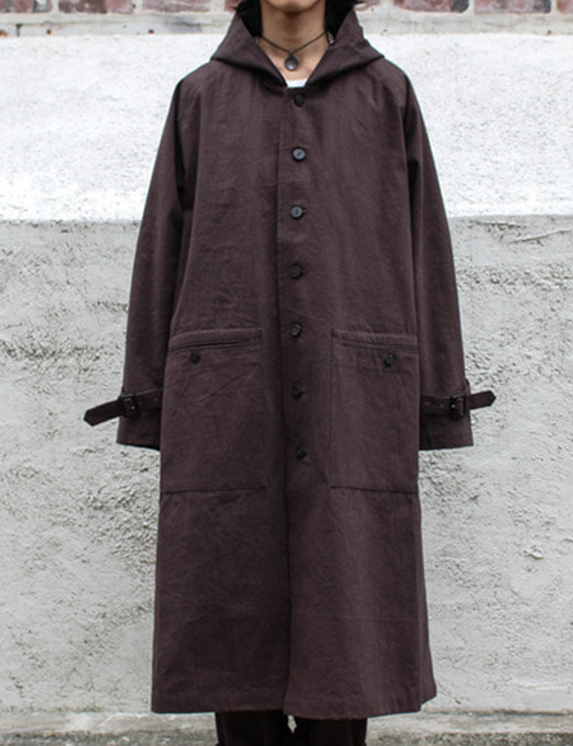 CANVAS COAT_BROWN