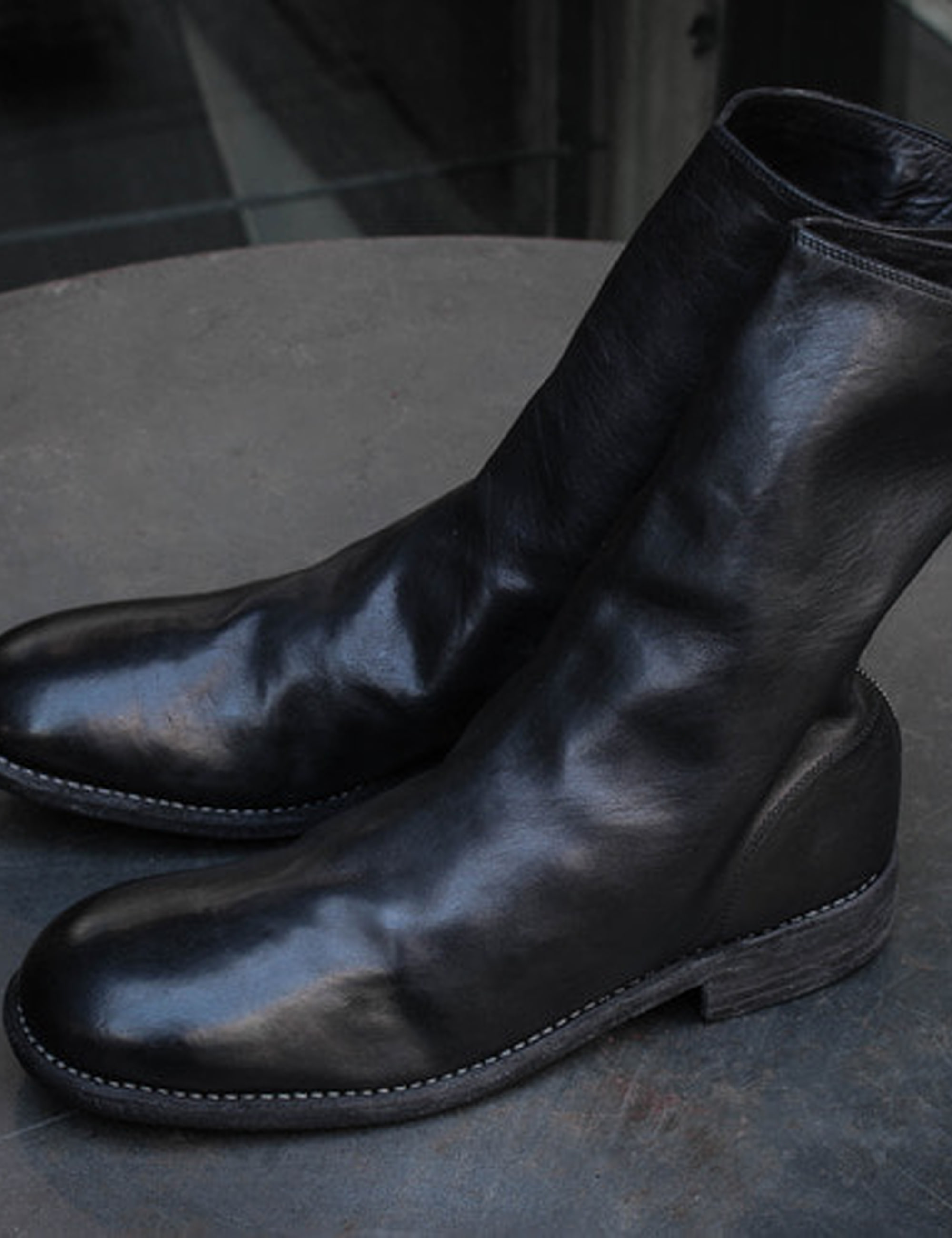 789 HORSE FULL GRAIN BACK ZIP BOOTS_BLACK