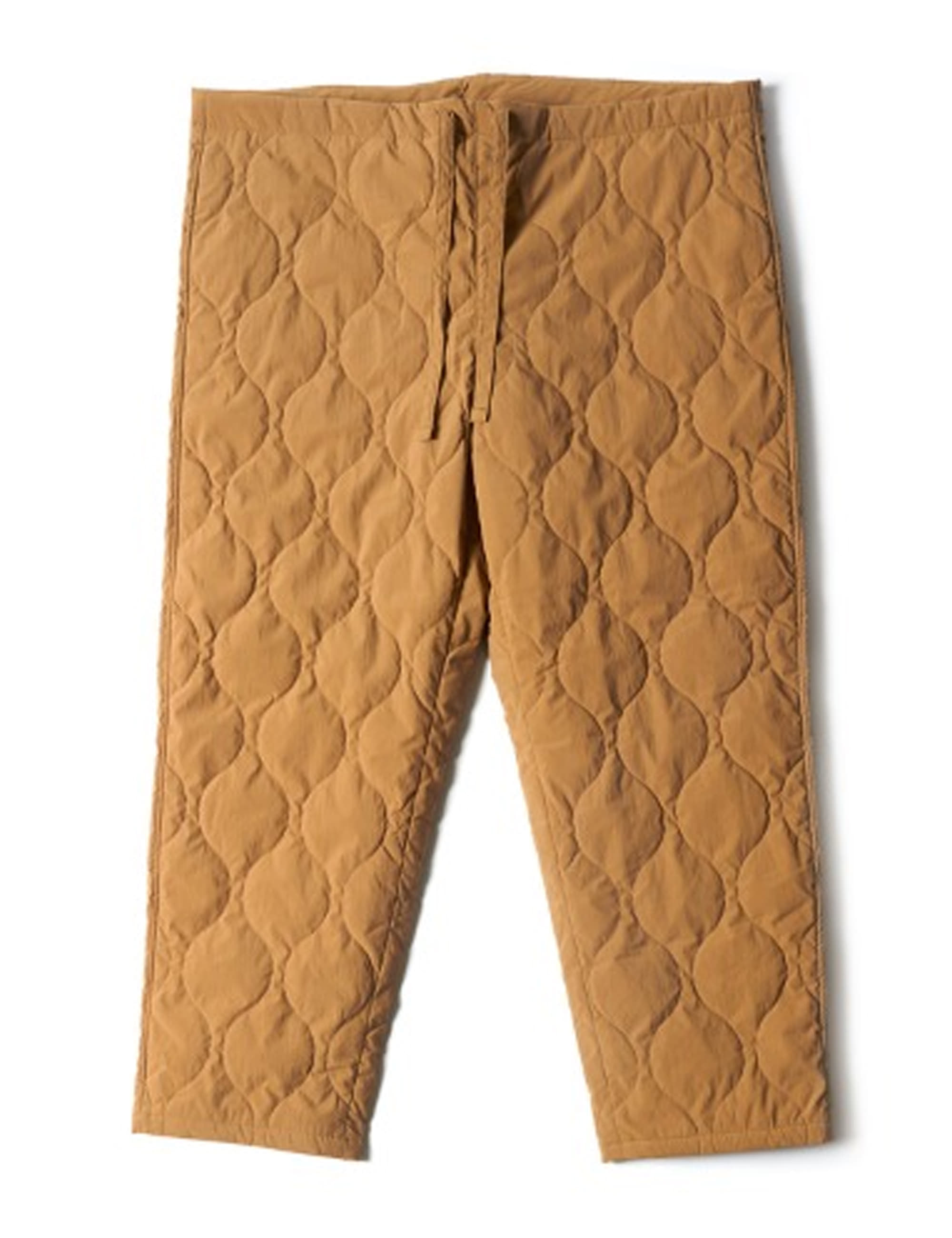 QUILTED DRAWSTRING PANTS_KHAKI