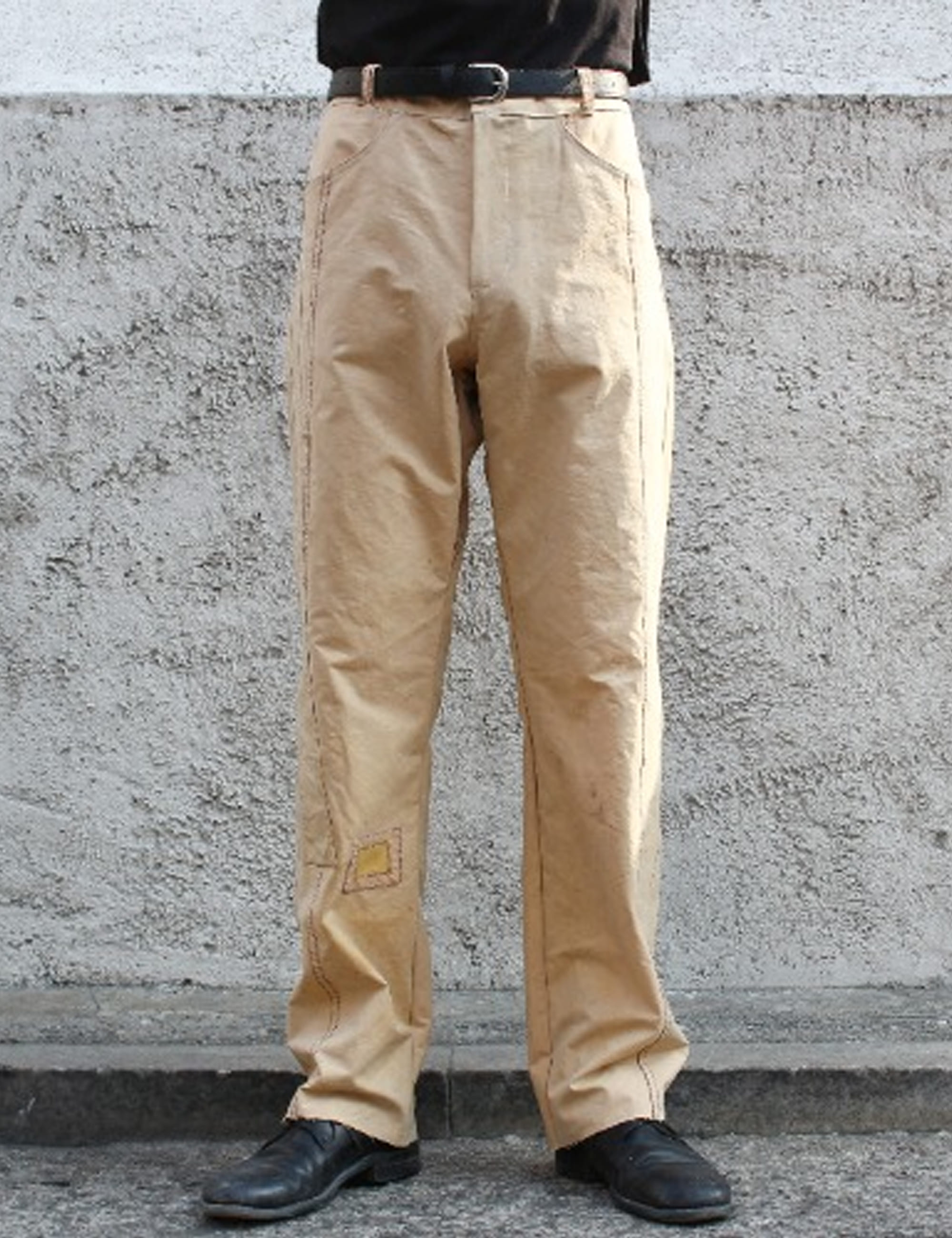 [EXCLUSIVE] STRAIGHT DENIM TROUSERS_OLD COTTON SAIL FABRIC