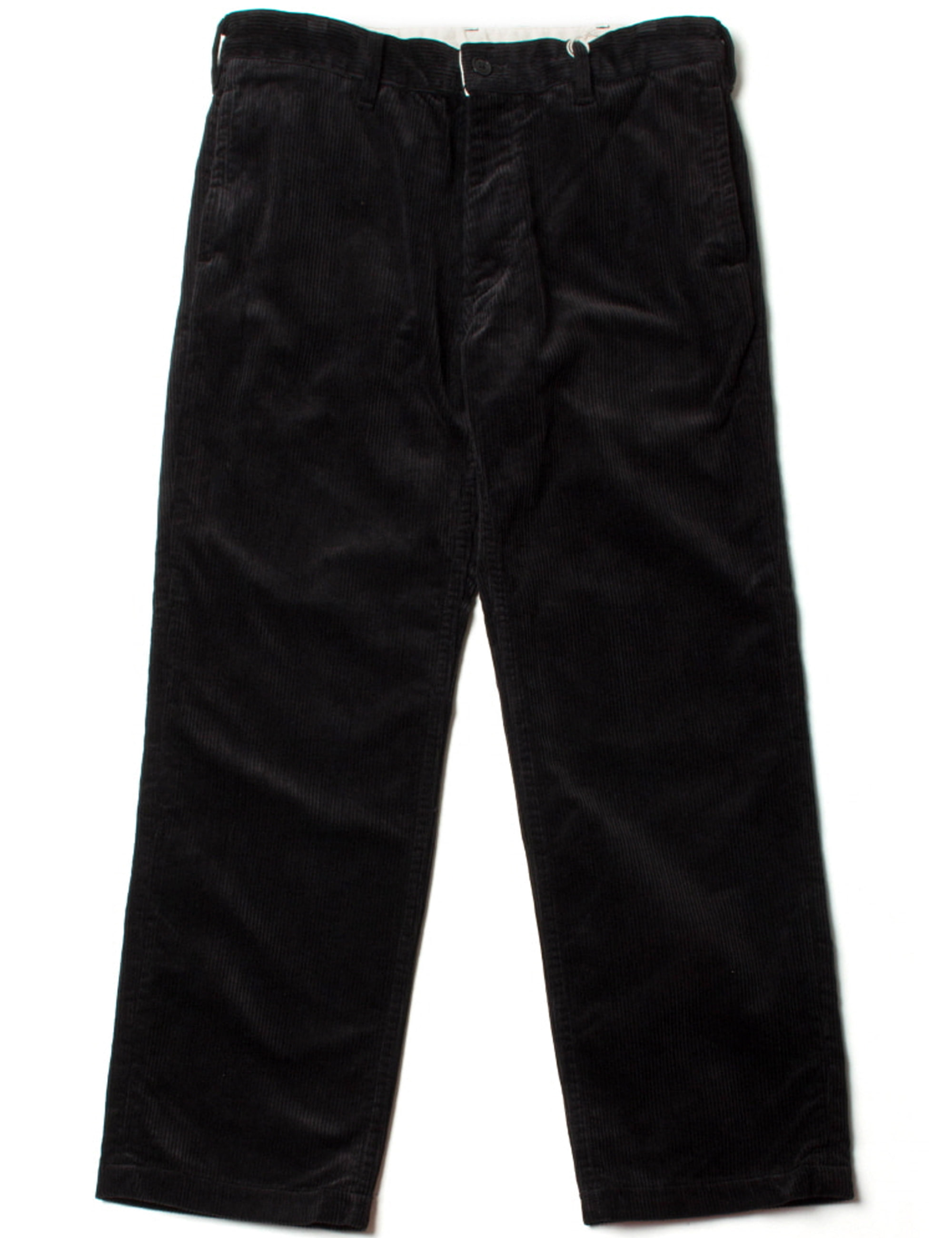 CORD WORK TROUSERS_BLACK