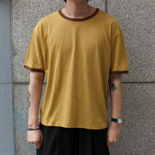 RETRO TSHIRTS_YELLOW STRIPE