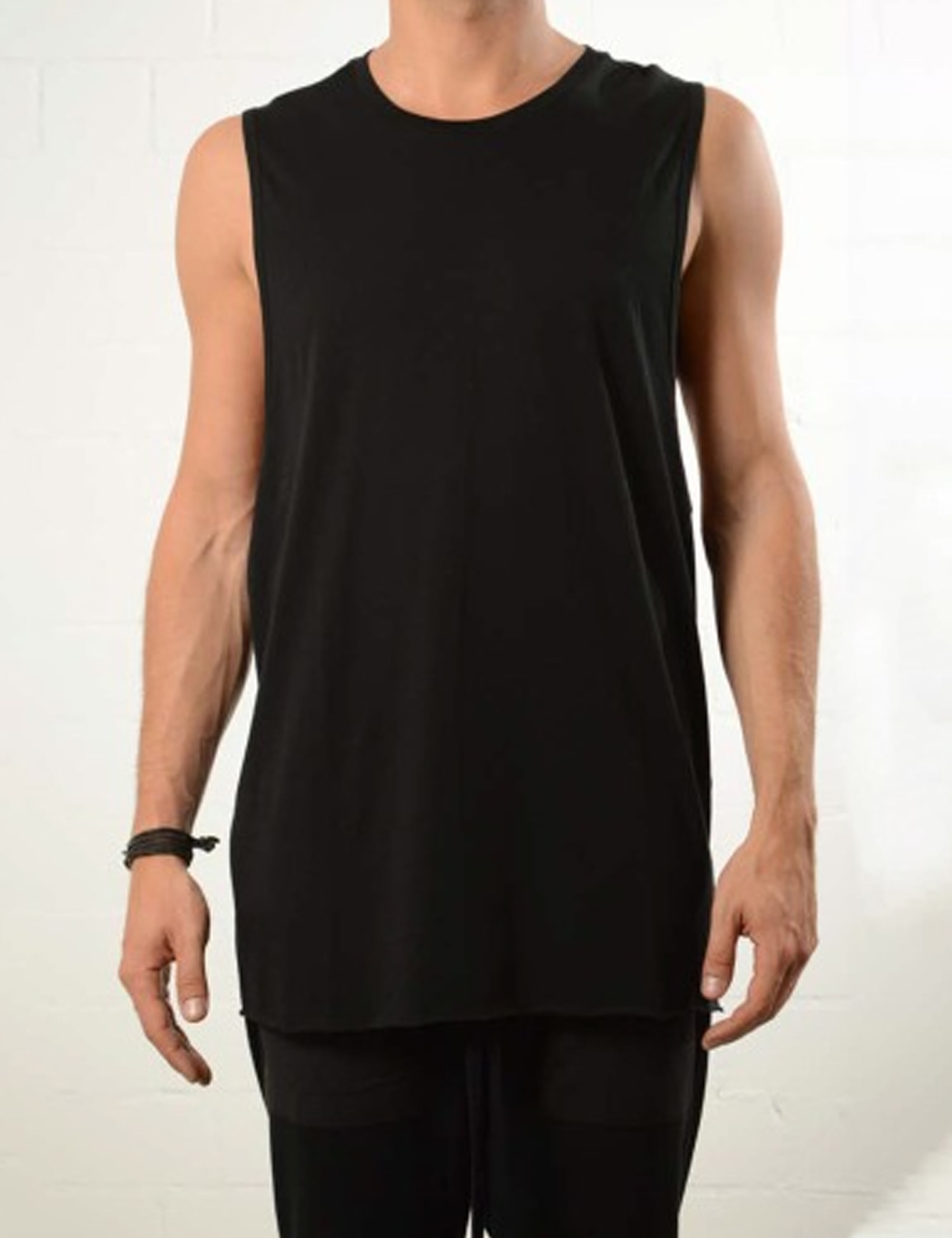 MODAL SLEEVELESS_BLACK