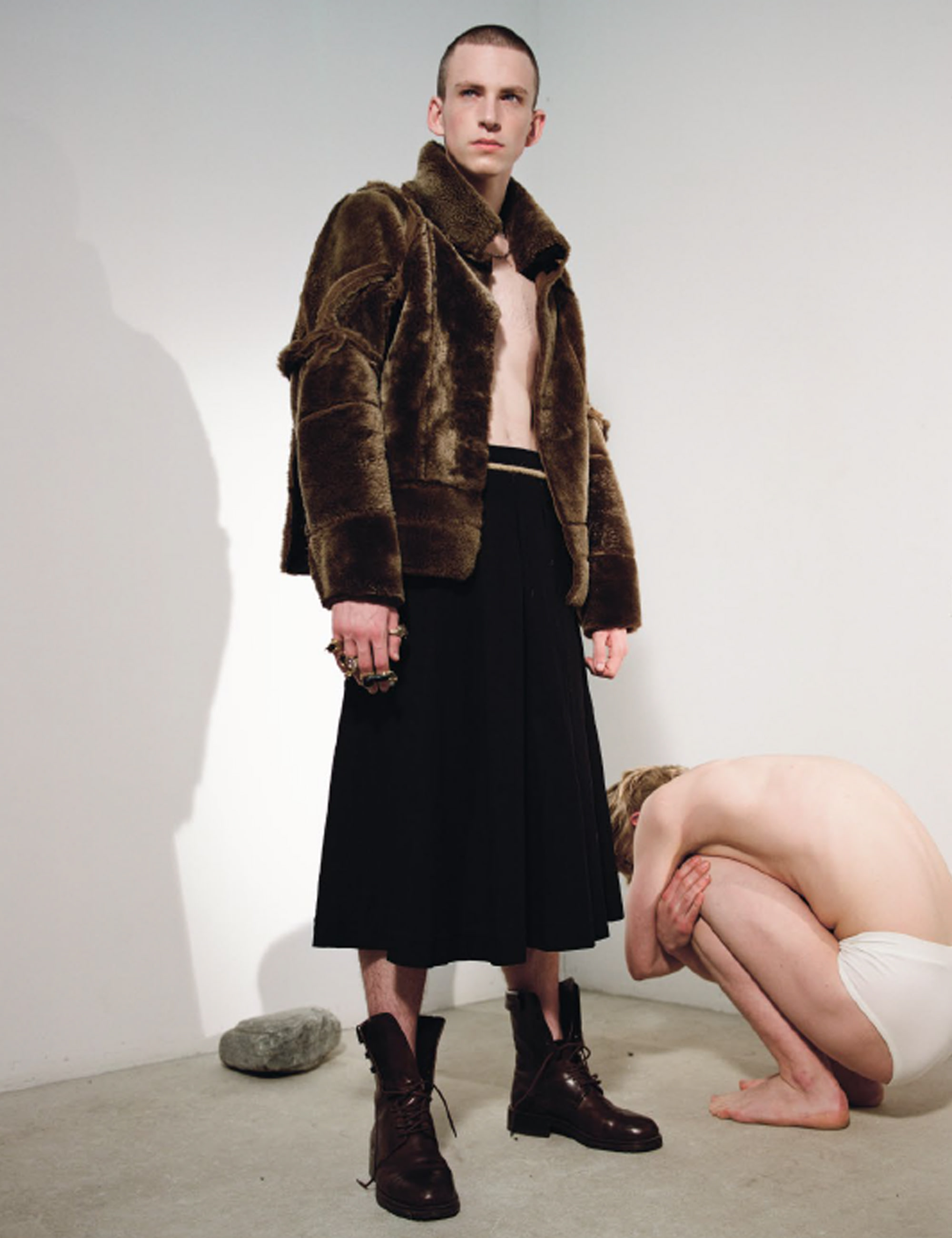 FUR JACKET_BROWN