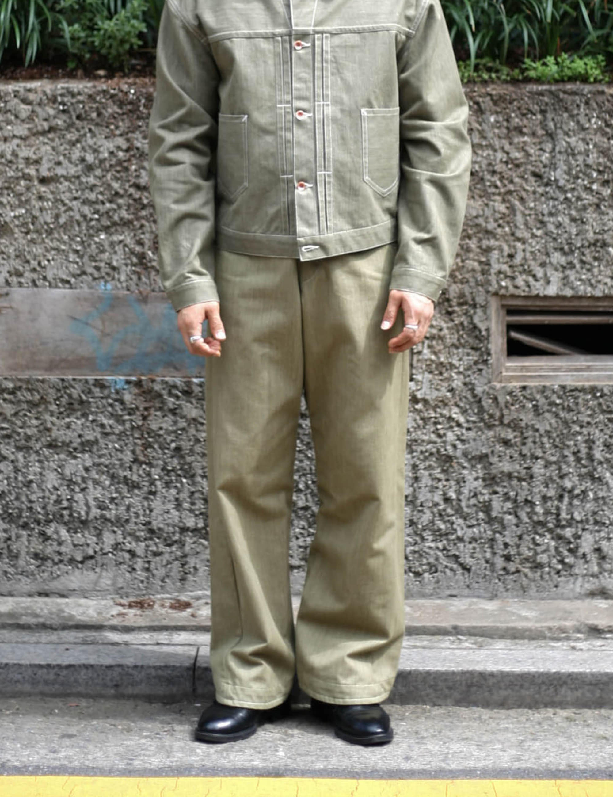 TWISTY BOY JEANS_KHAKI GREEN SELVEDGE DENIM