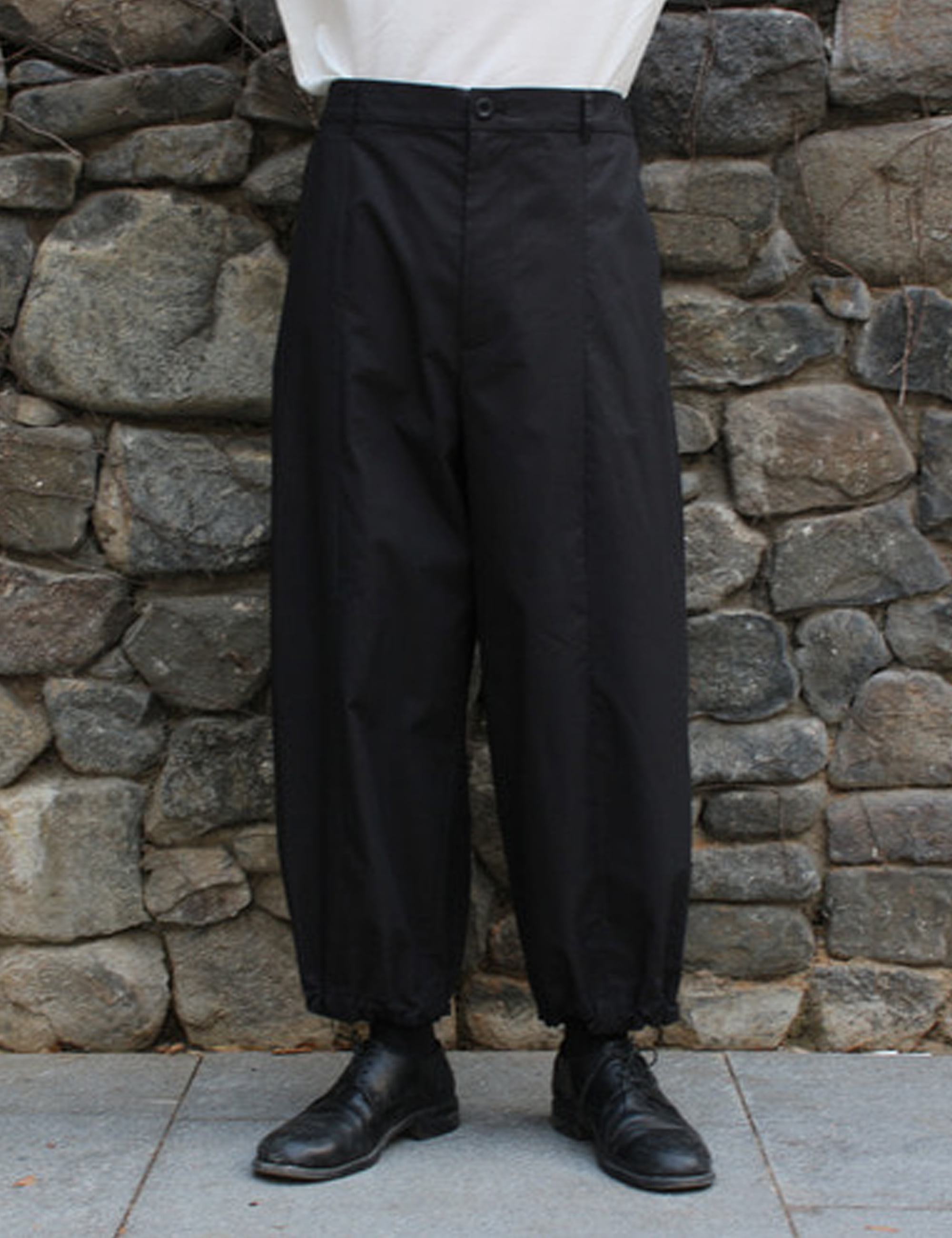 TYPEWRITER WIDE PANTS_BLACK