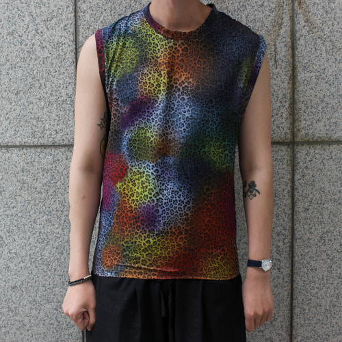 LIMITED SLEEVELESS_MULTI LEOPARD