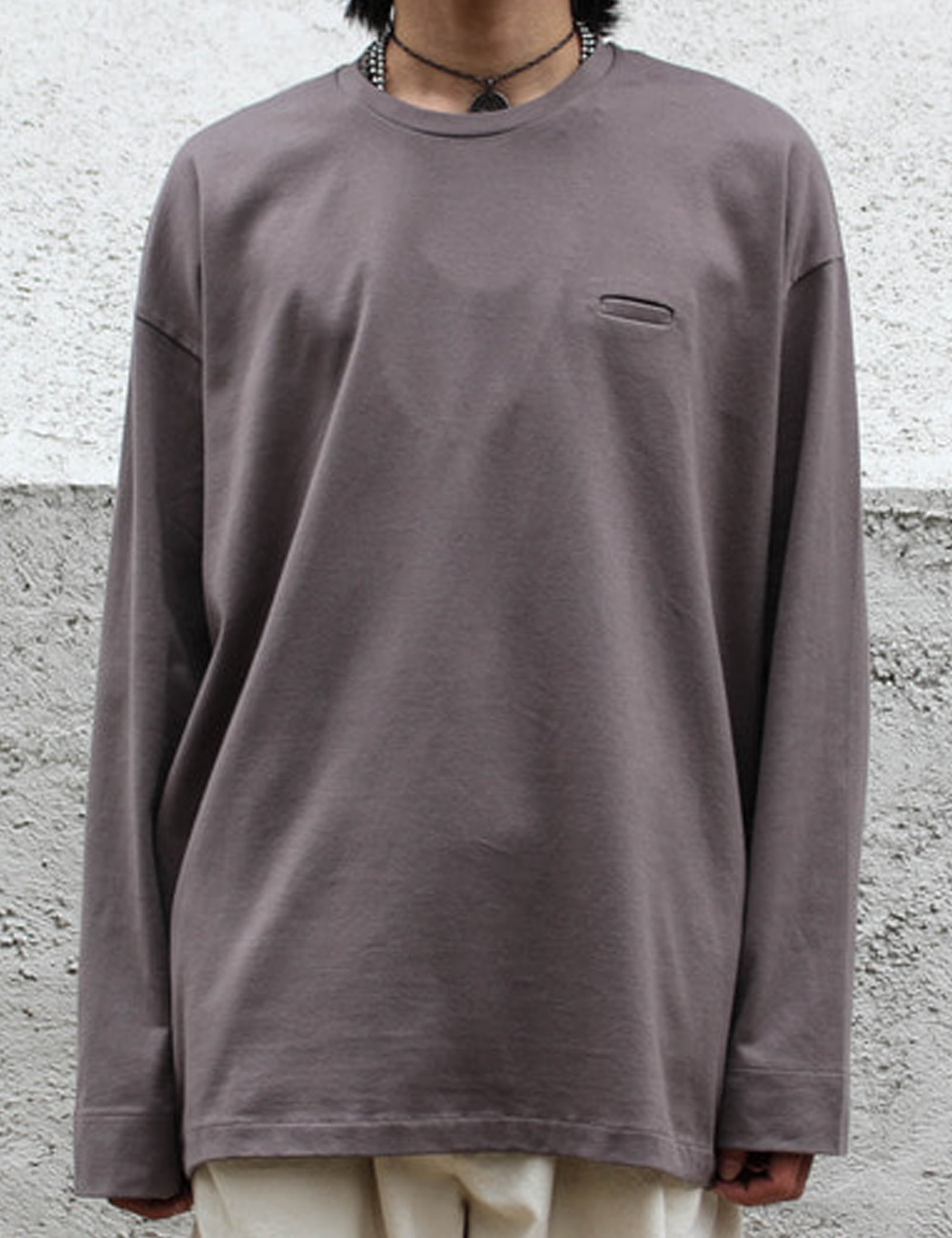 BALLOON LONG T_SMOKE GRAY