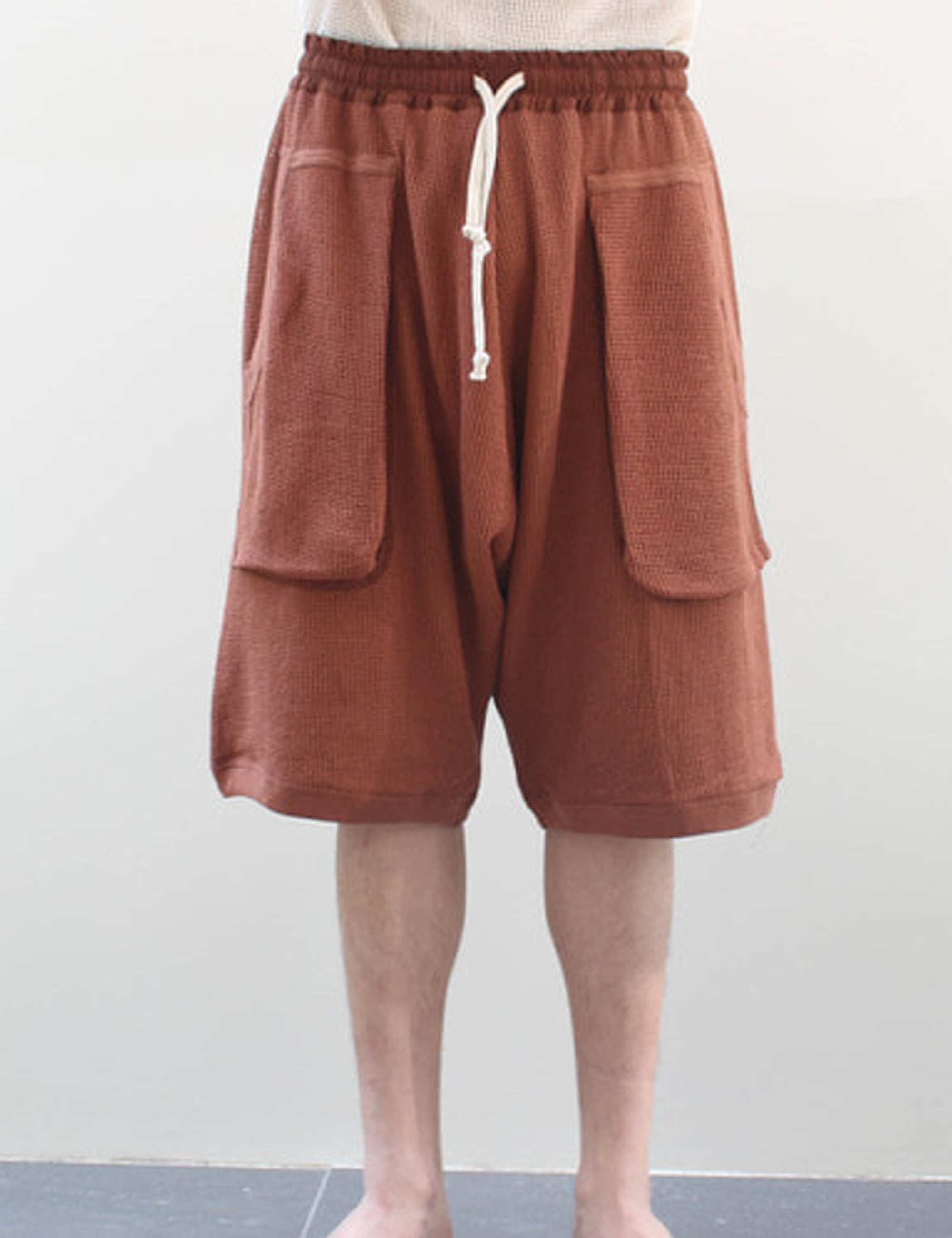 DOUBLE LAYER MESH SHORTS_TABAC