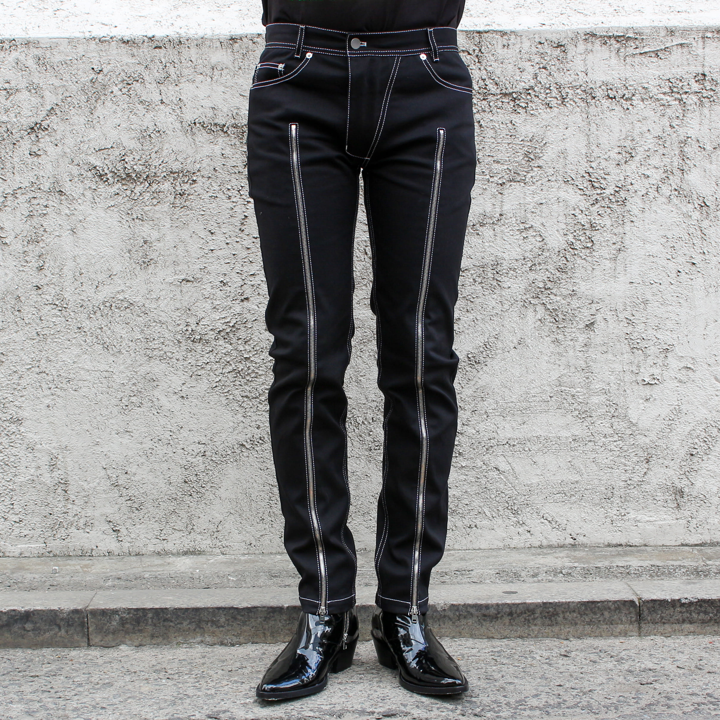 ZIPPER JEAN_BLACK