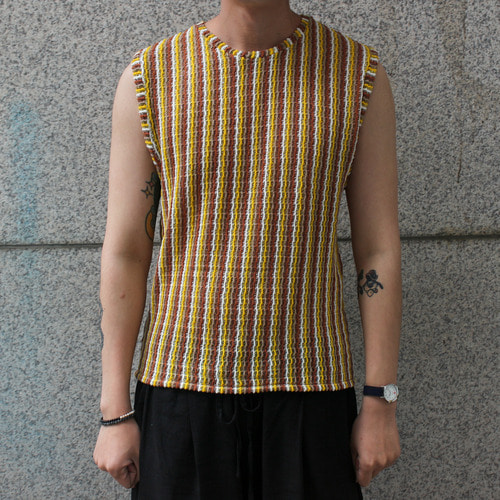 LIMITED SLEEVELESS_MULTI STRIPE