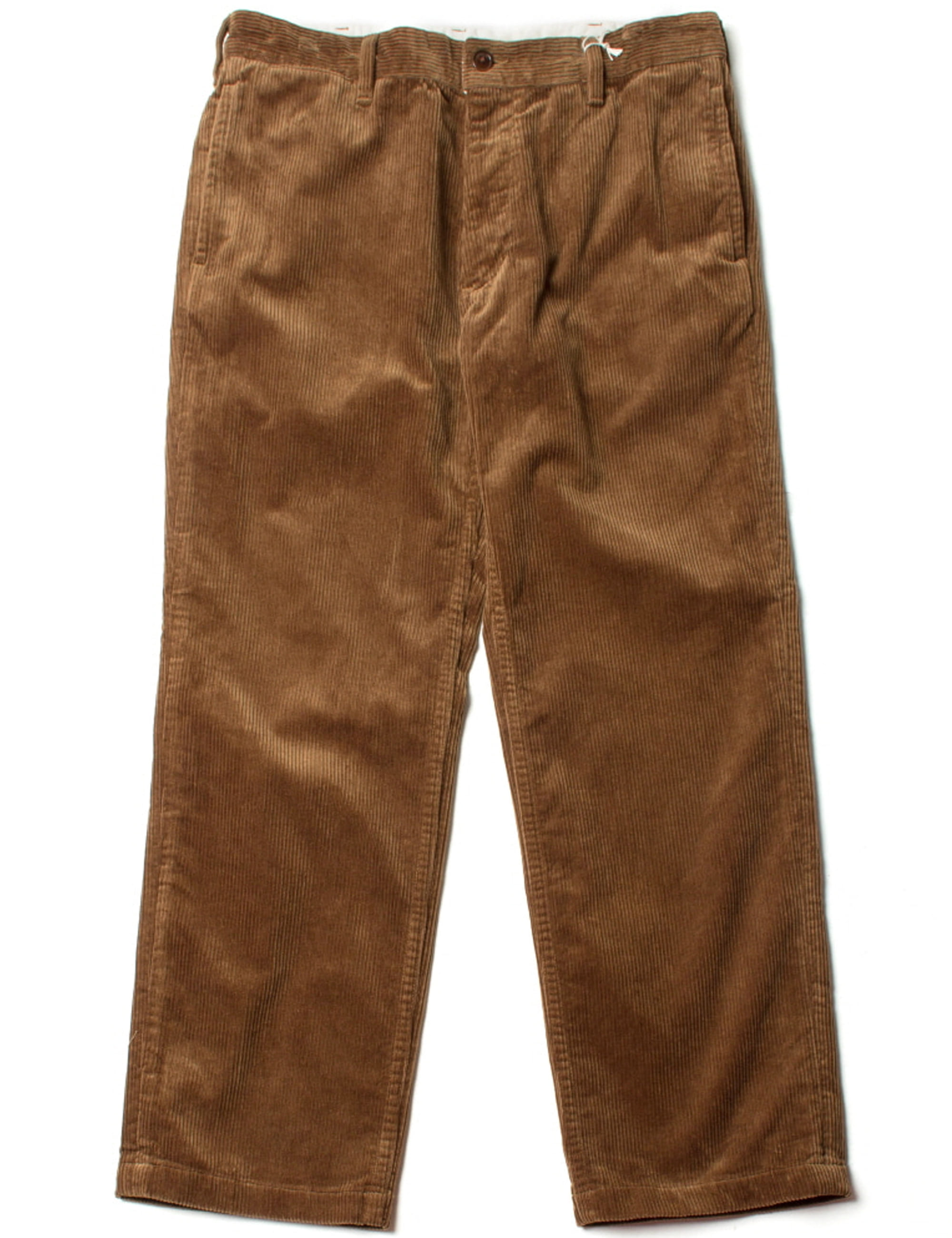 CORD WORK TROUSERS_BROWN