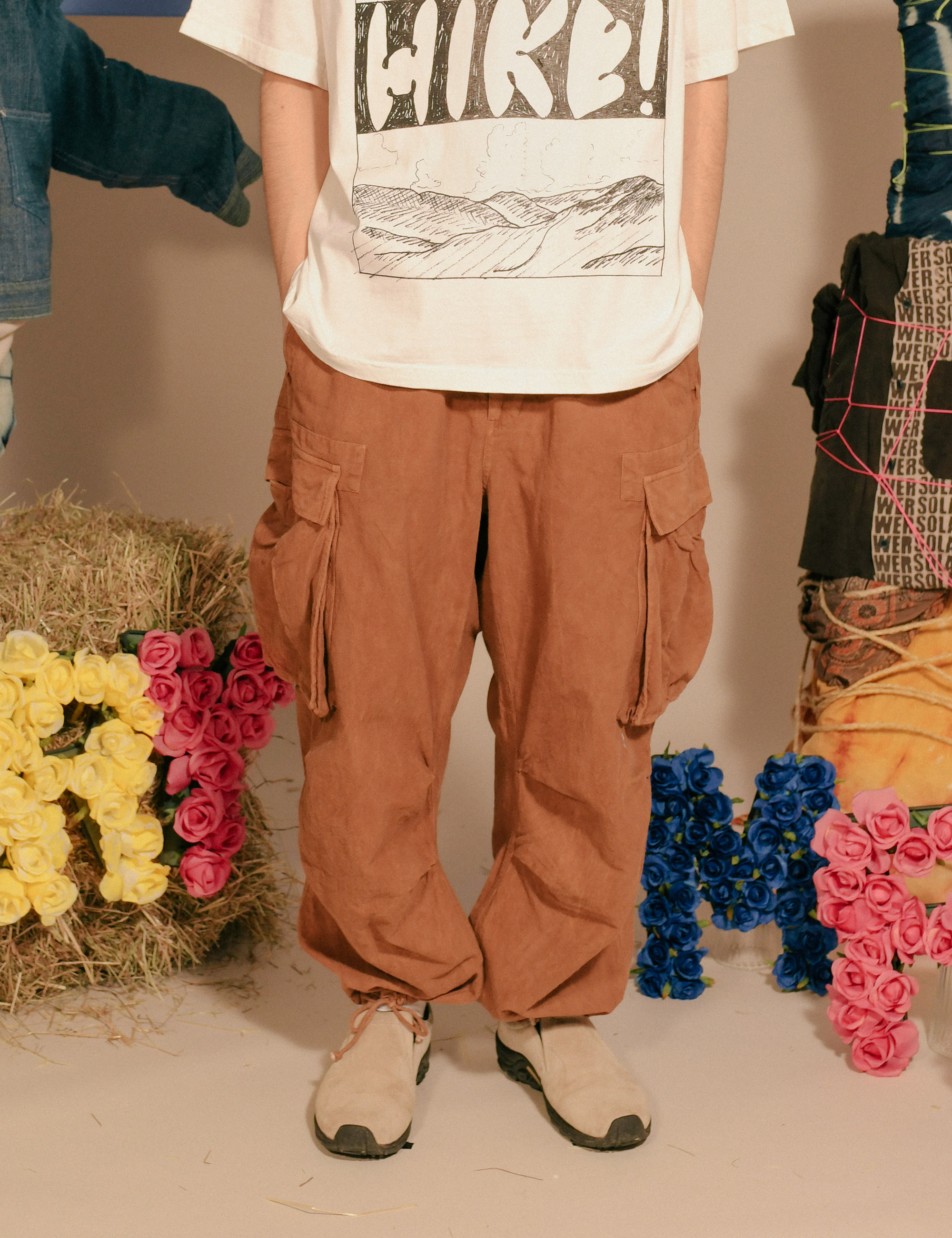PEACE PANTS_BARK BROWN OD