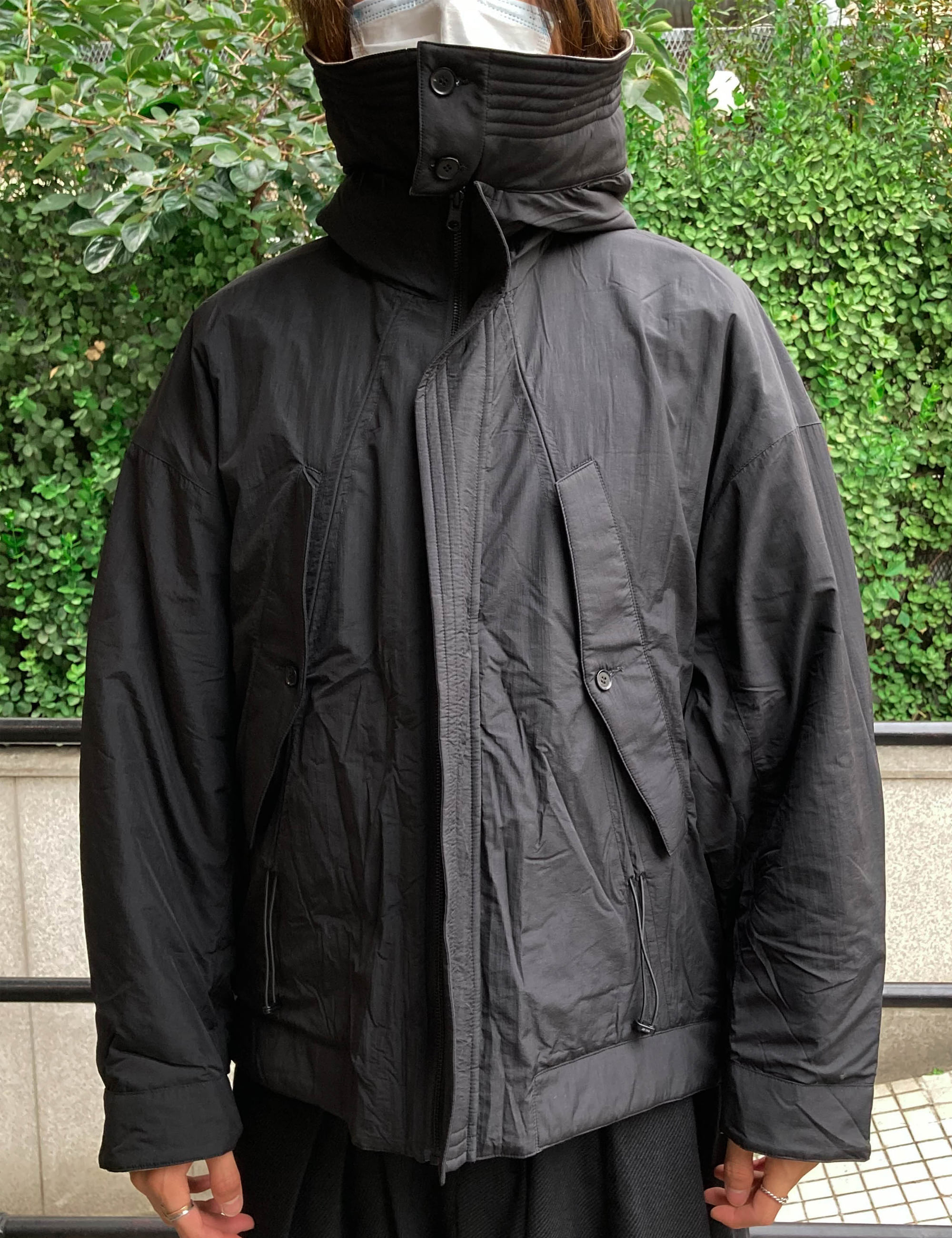 HUNCH BACK REVERSIBLE JACKET_SAND/BLACK