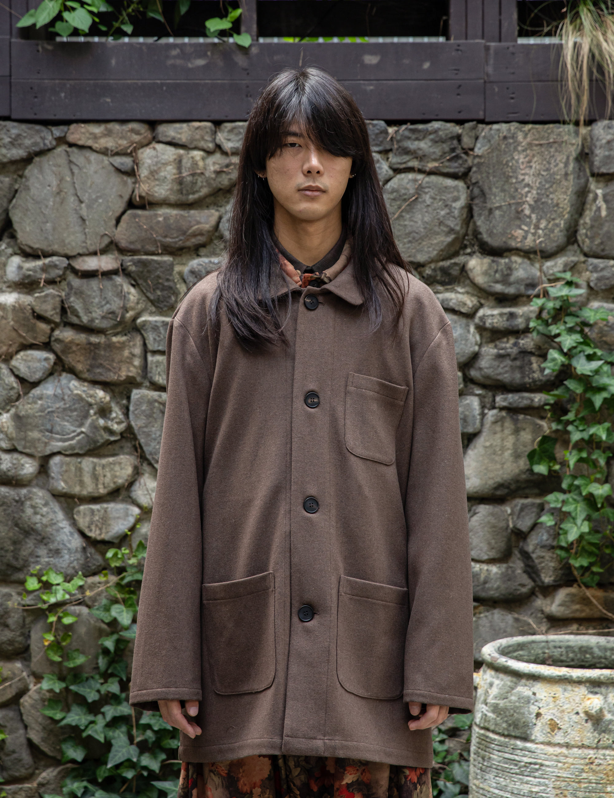 COVERALL JACKET_BROWN