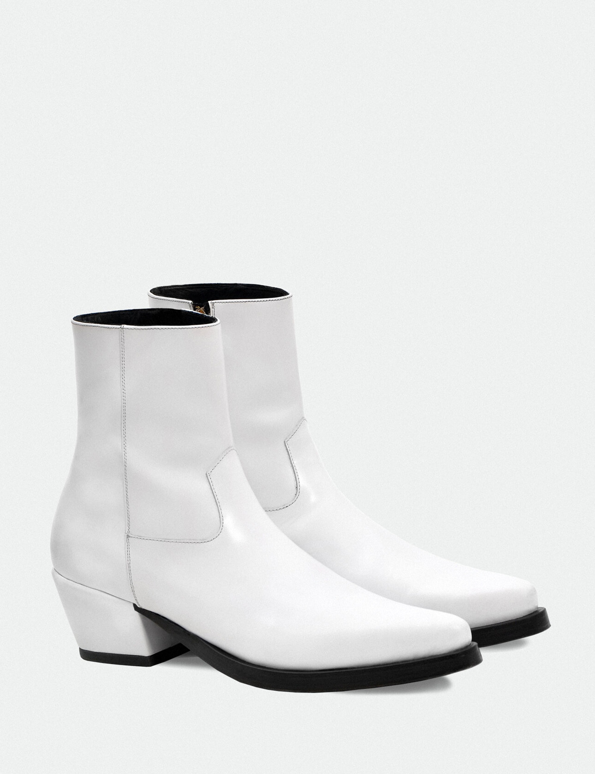 COVERED HEEL WESTERN BOOTS_WHITE
