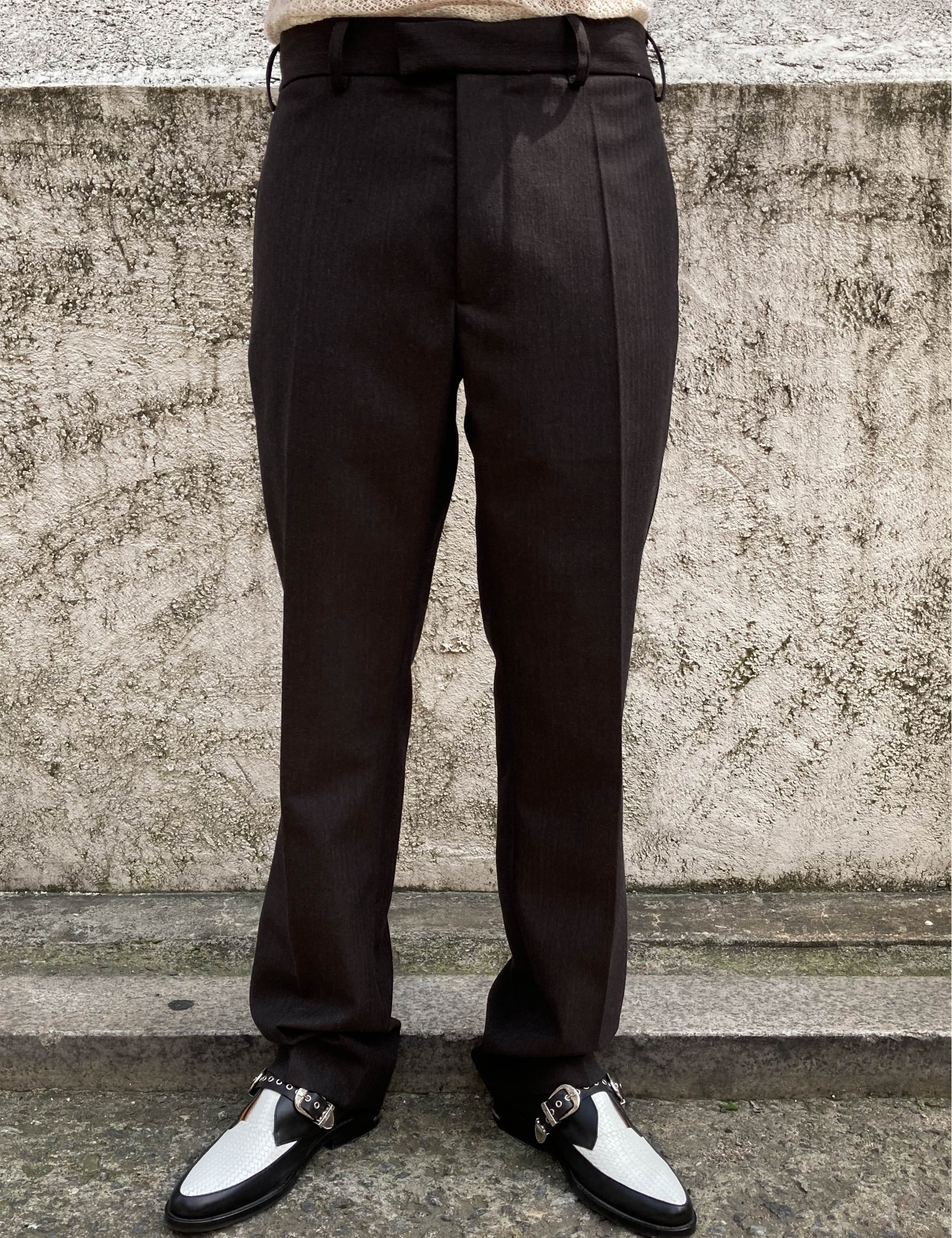SUIT TROUSER_BROWN