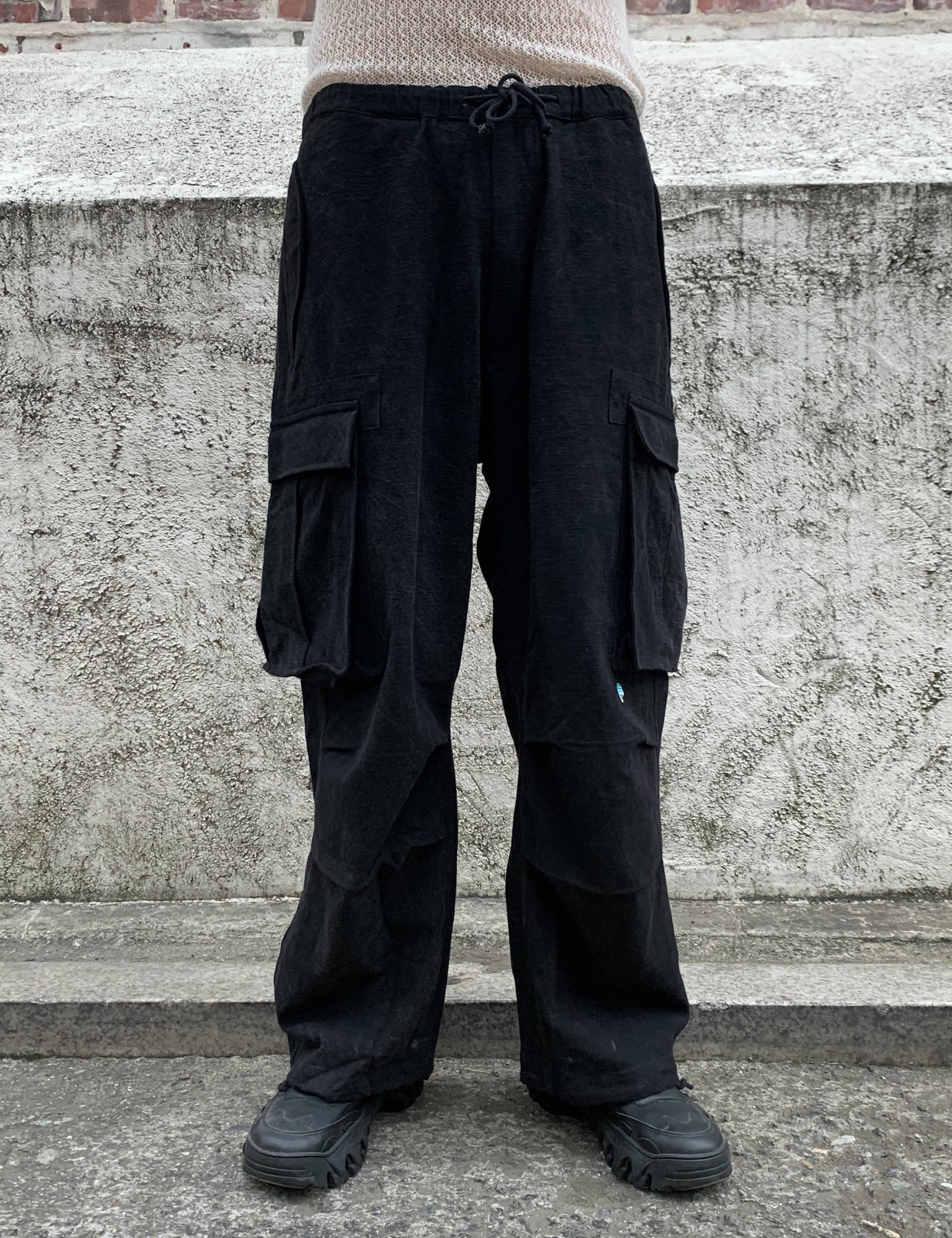 PEACE PANTS_IRON BLACK OD