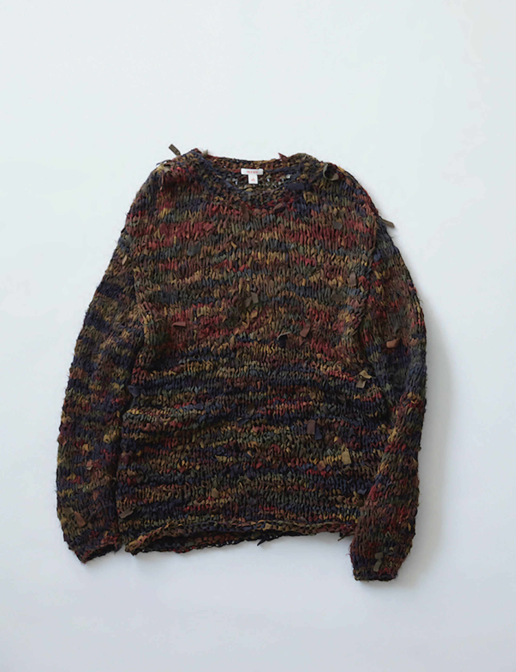 PRAYERS SILK SWEATER_RED MARBLE