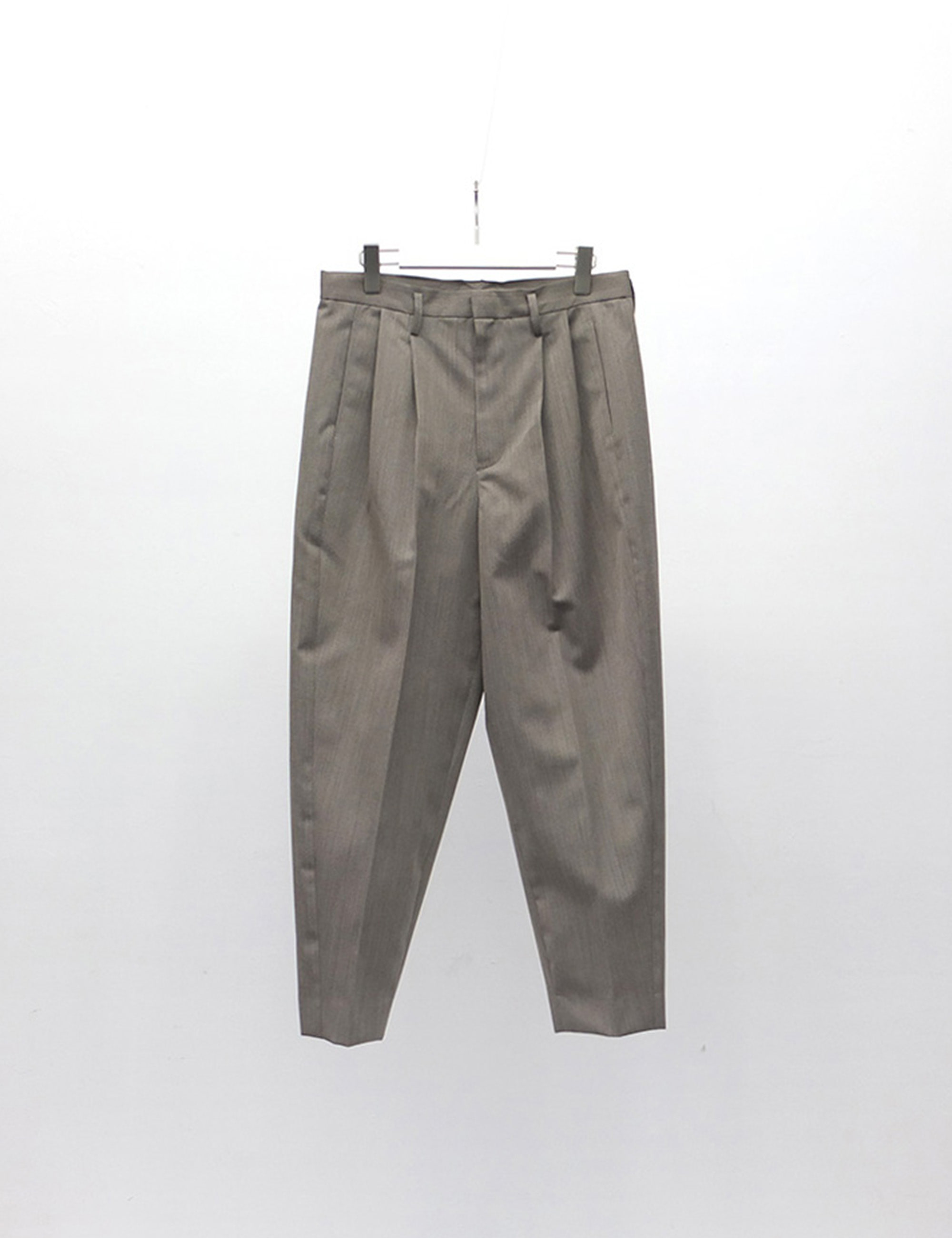 YOSOIKI 2TUCK PANTS_GRAY BEIGE
