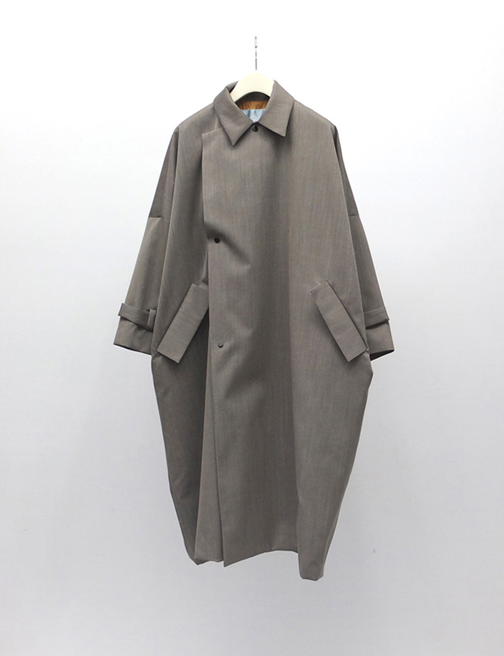YOSOIKI COAT_GREY BEIGE