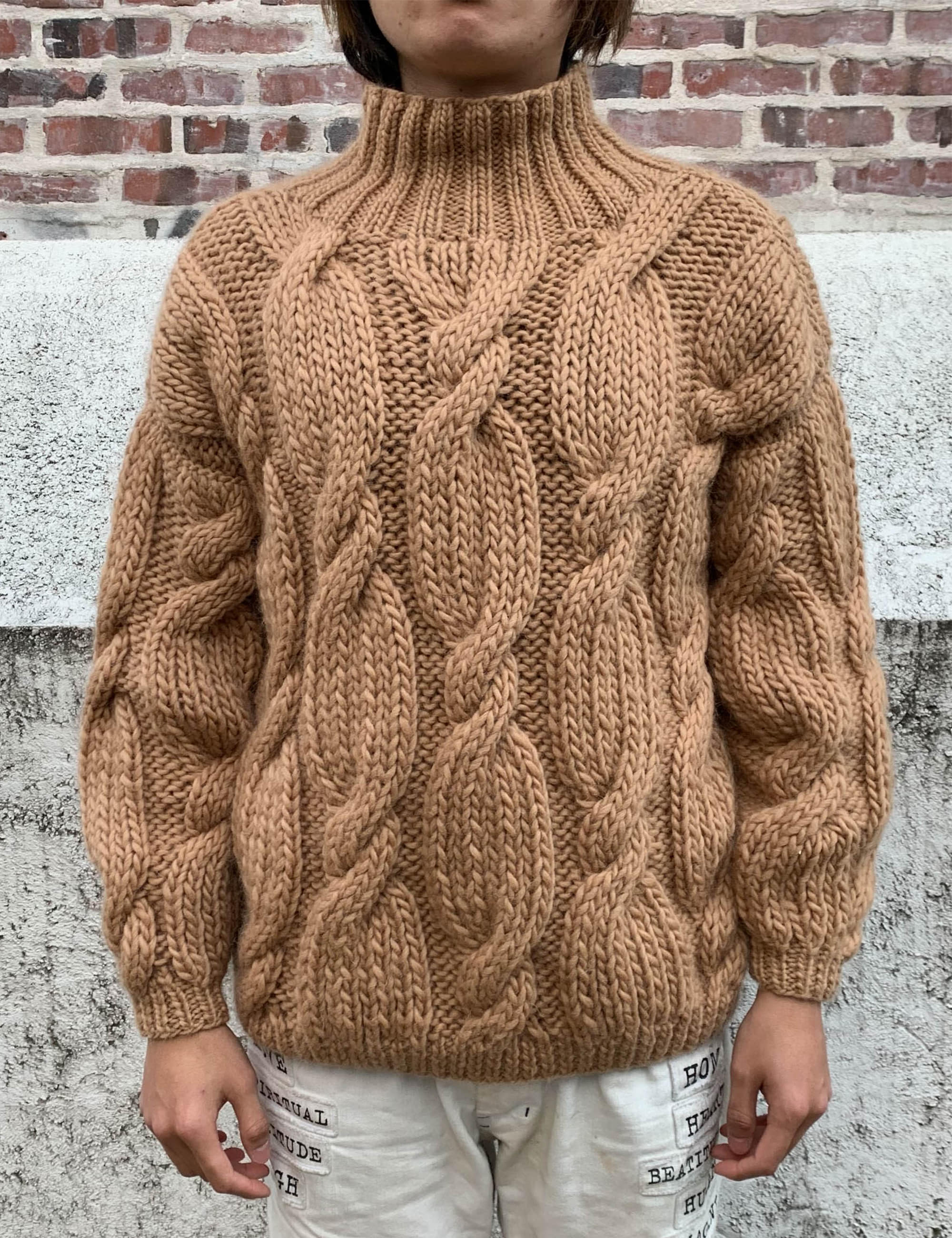 """ONION"" ROLLNECK SWEATER_SAND"