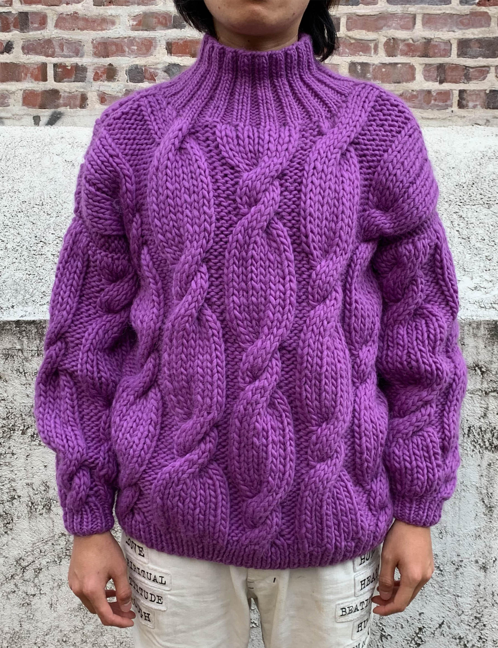 """ONION"" ROLLNECK SWEATER_PURPLE"